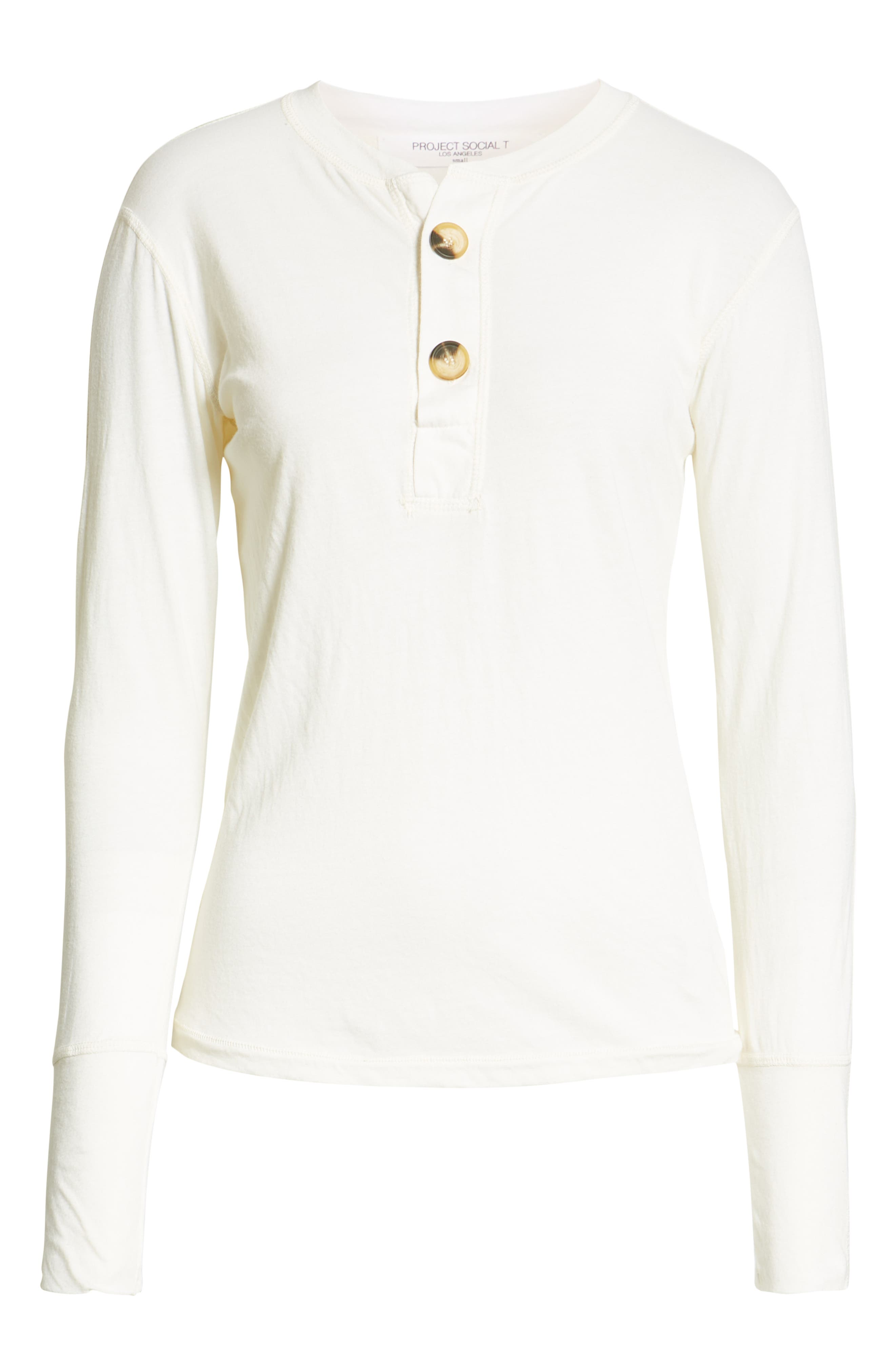 Like a Rollin Stone Henley,                             Alternate thumbnail 6, color,                             OFF WHITE