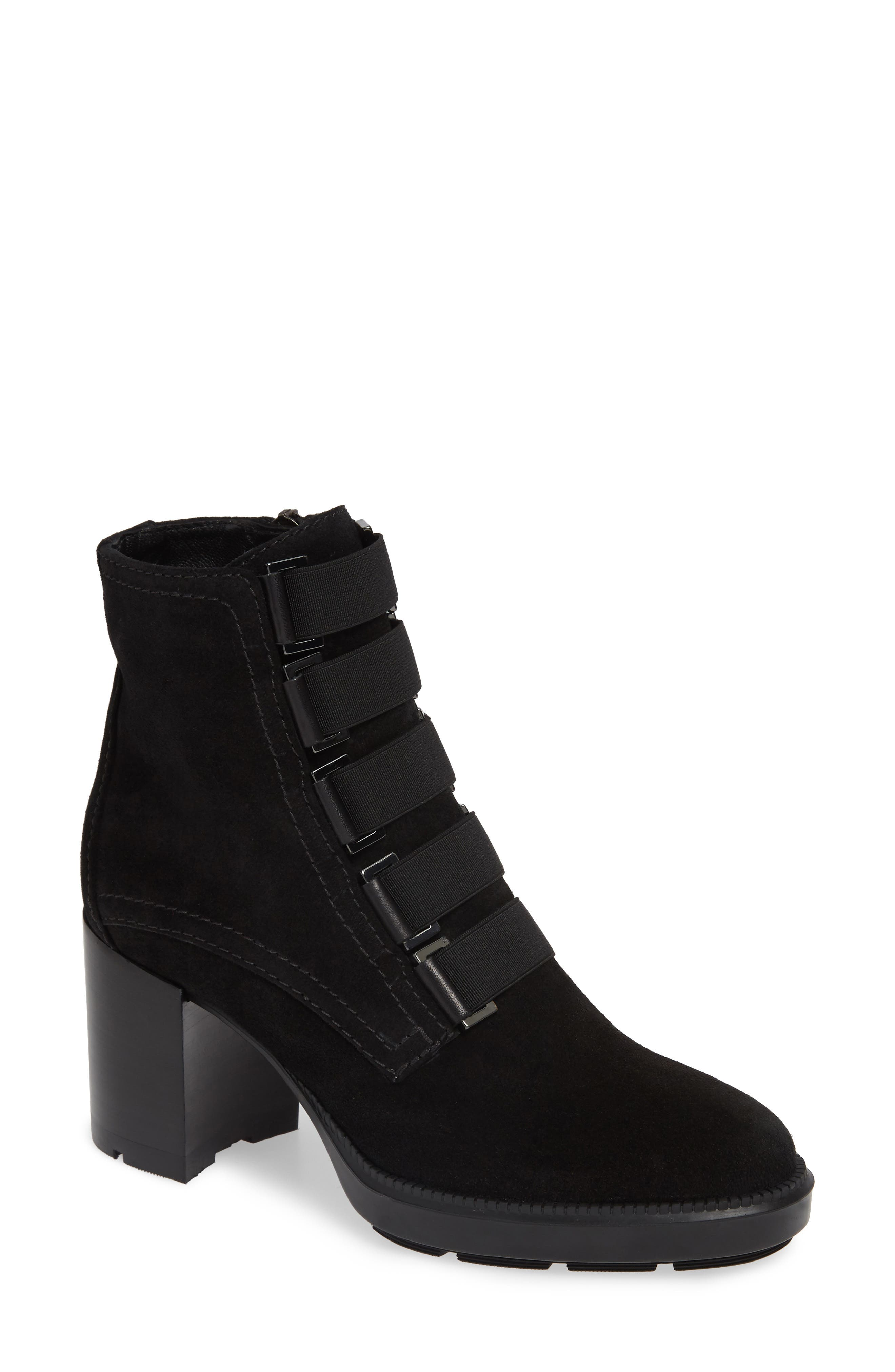 AQUATALIA Women'S Indira Round Toe Buckled Booties in Black