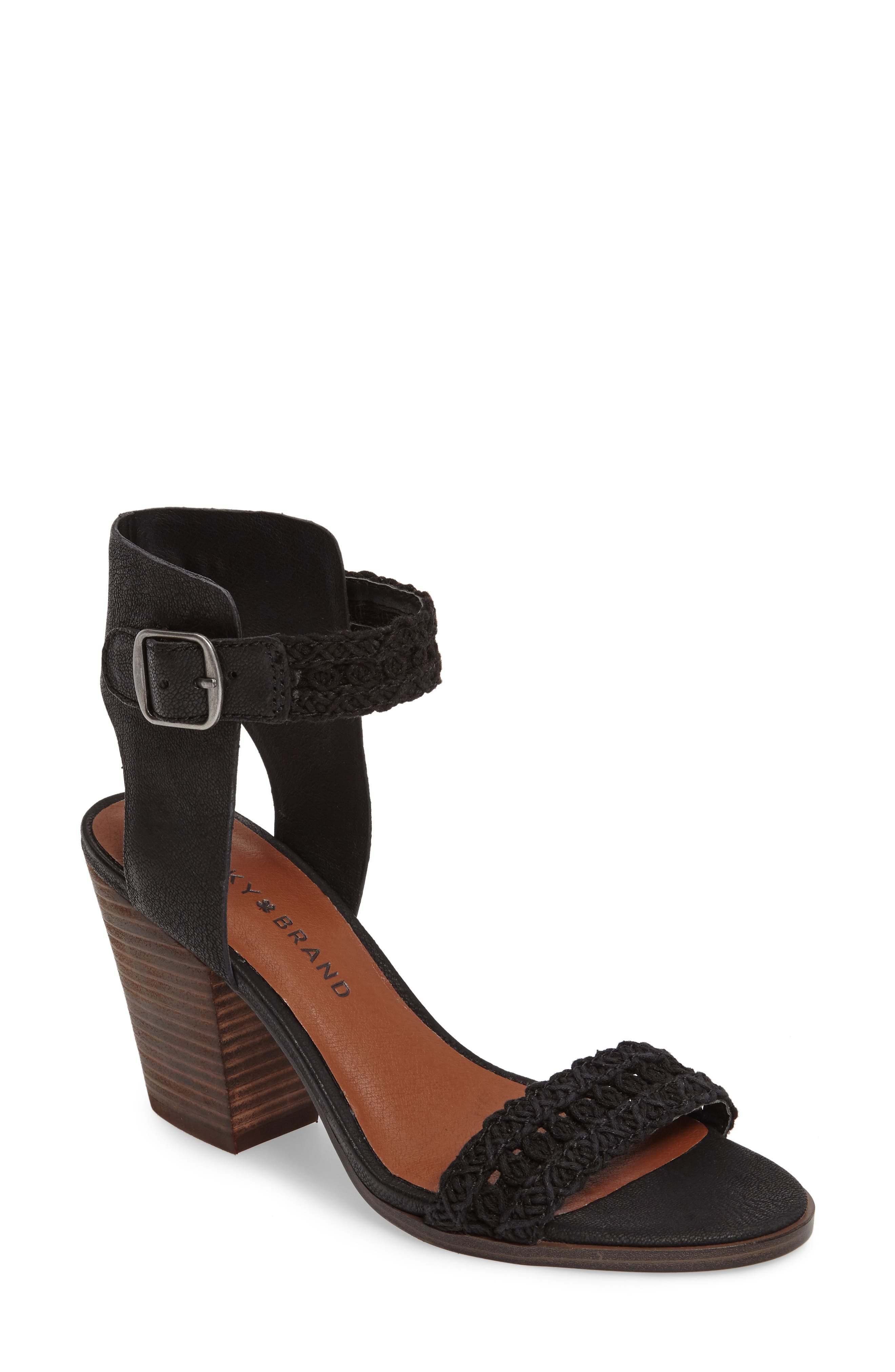 Oakes Ankle Strap Sandal,                             Main thumbnail 1, color,                             001