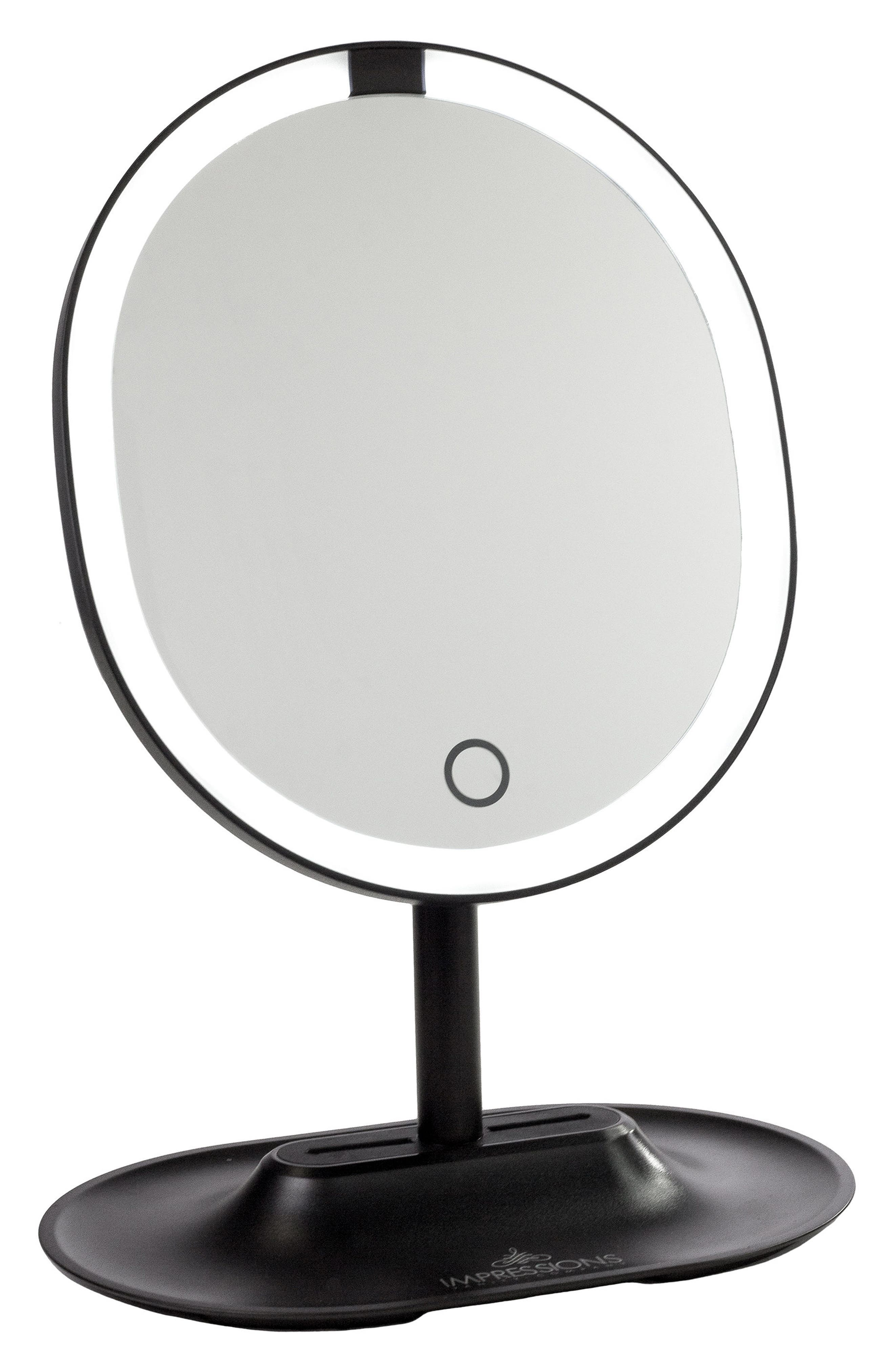Touch Wave Motion Activated LED Makeup Mirror,                             Main thumbnail 1, color,                             001