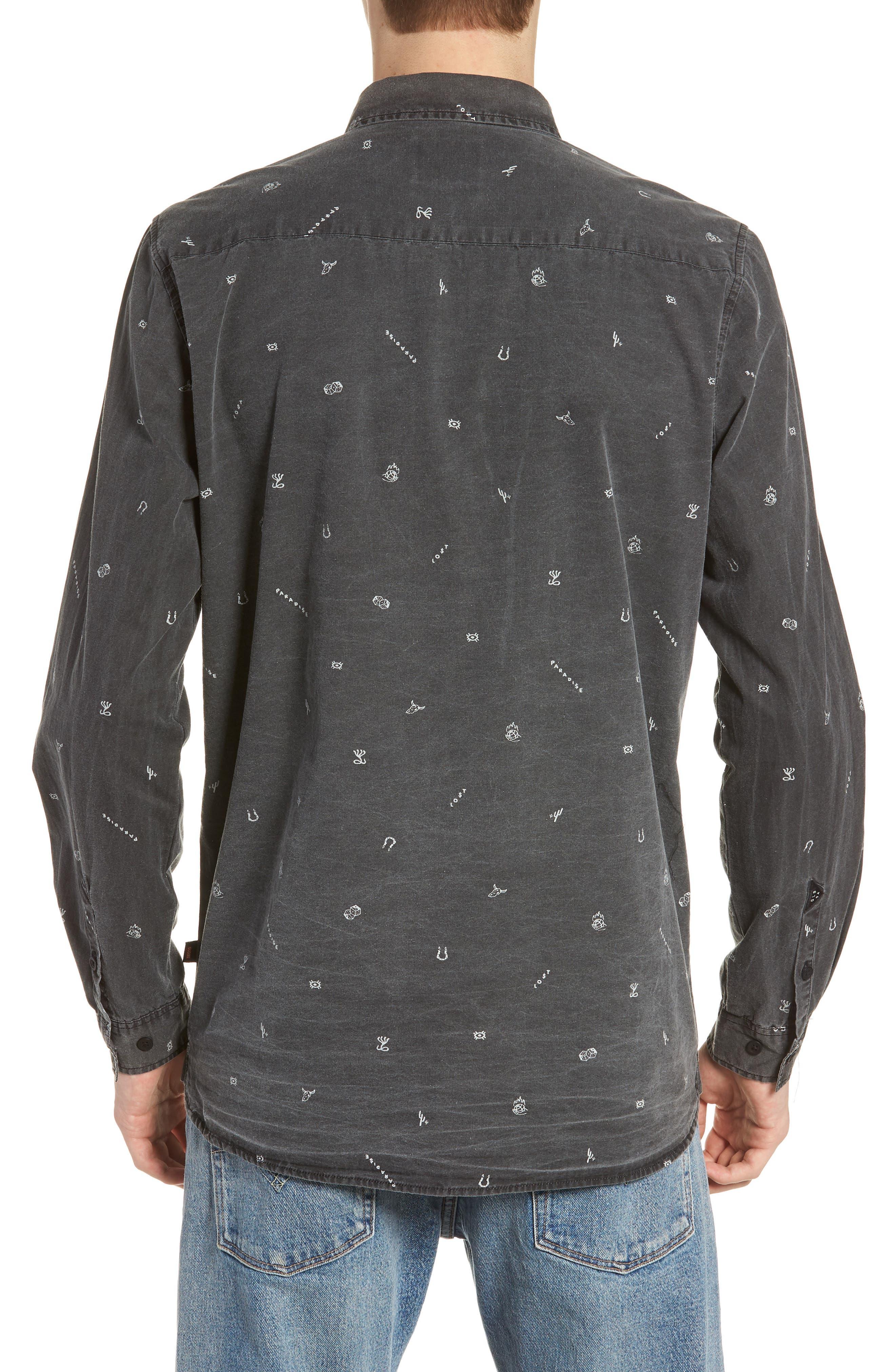 Vegas Woven Shirt,                             Alternate thumbnail 2, color,                             VINTAGE BLACK
