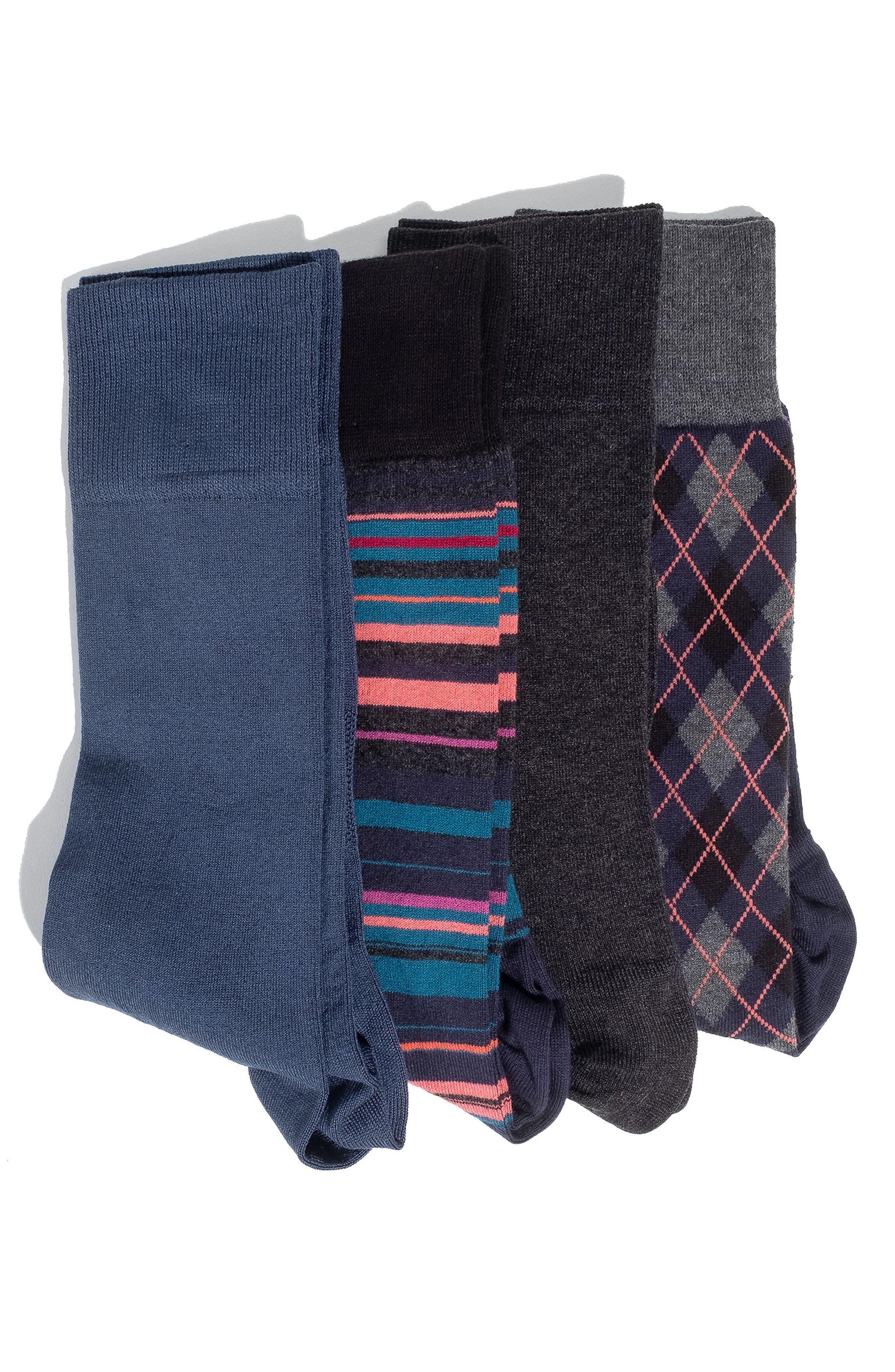 4-Pack Socks,                             Main thumbnail 1, color,
