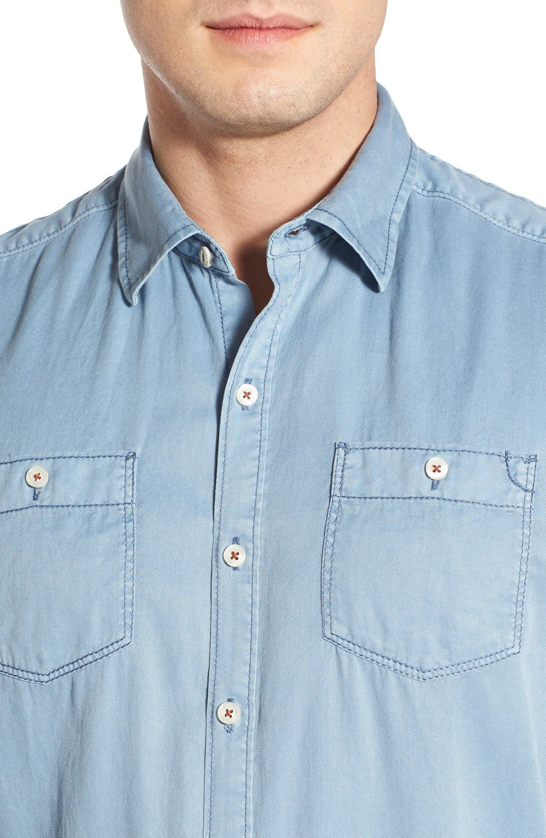 'New Twilly' Island Modern Fit Short Sleeve Twill Shirt,                             Alternate thumbnail 26, color,