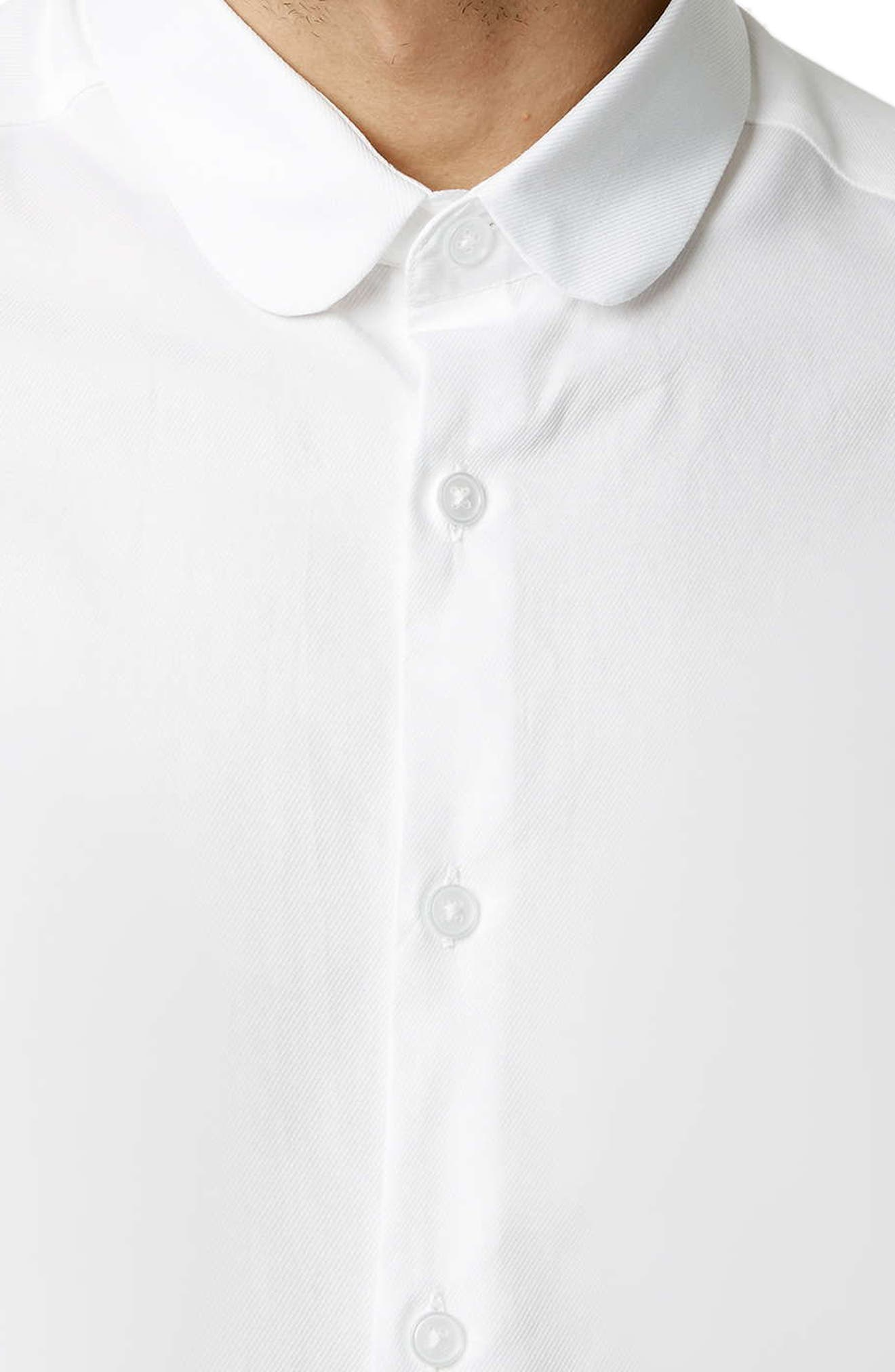 Penny Collar Shirt,                             Alternate thumbnail 2, color,                             WHITE