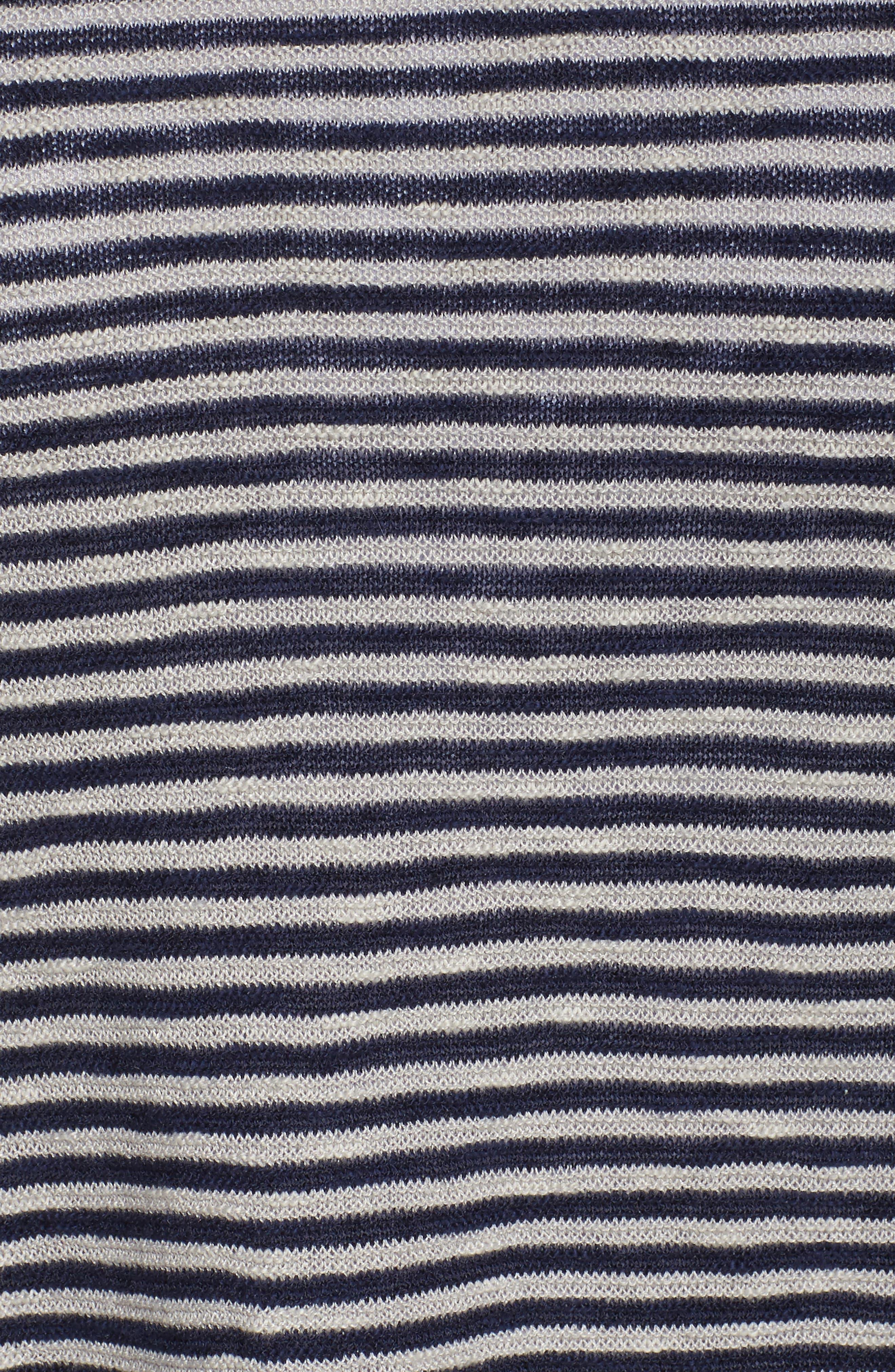 Stripe Organic Linen & Cotton Sweater,                             Alternate thumbnail 10, color,