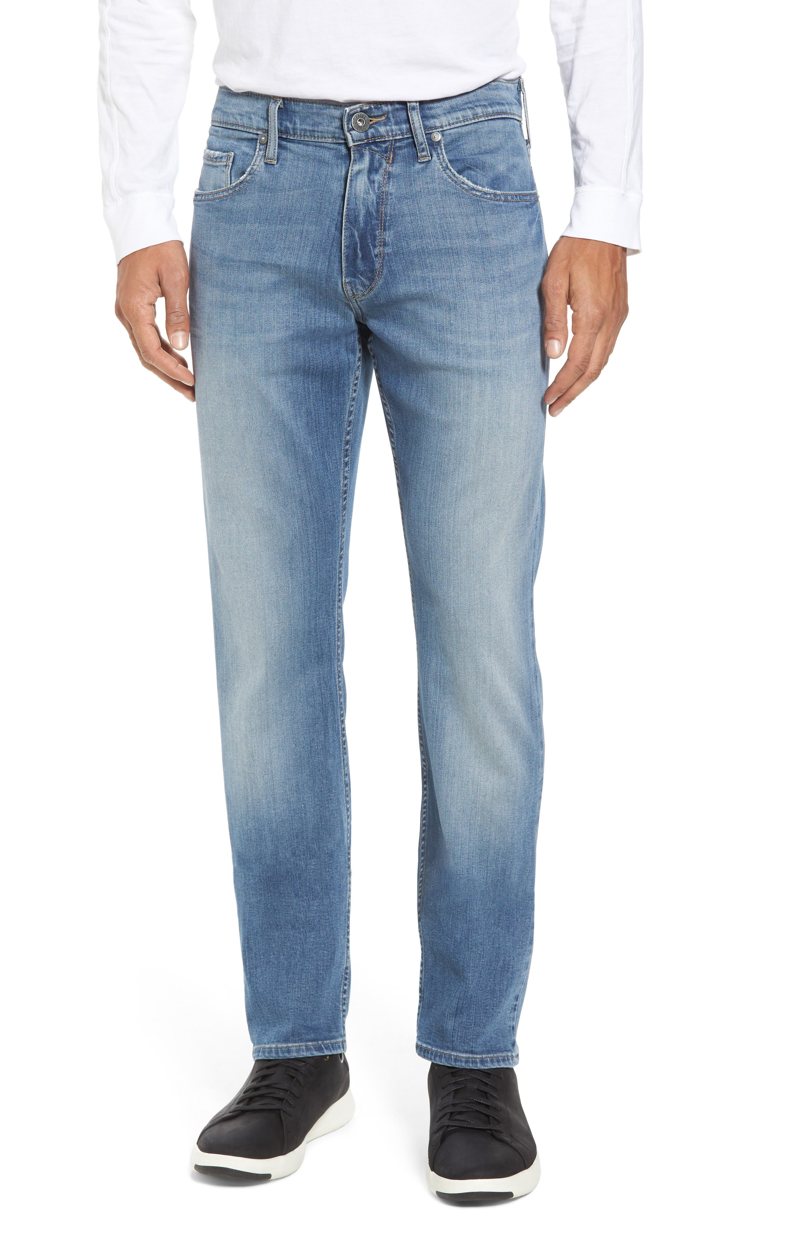 Transcend - Federal Slim Straight Fit Jeans,                             Main thumbnail 1, color,                             400