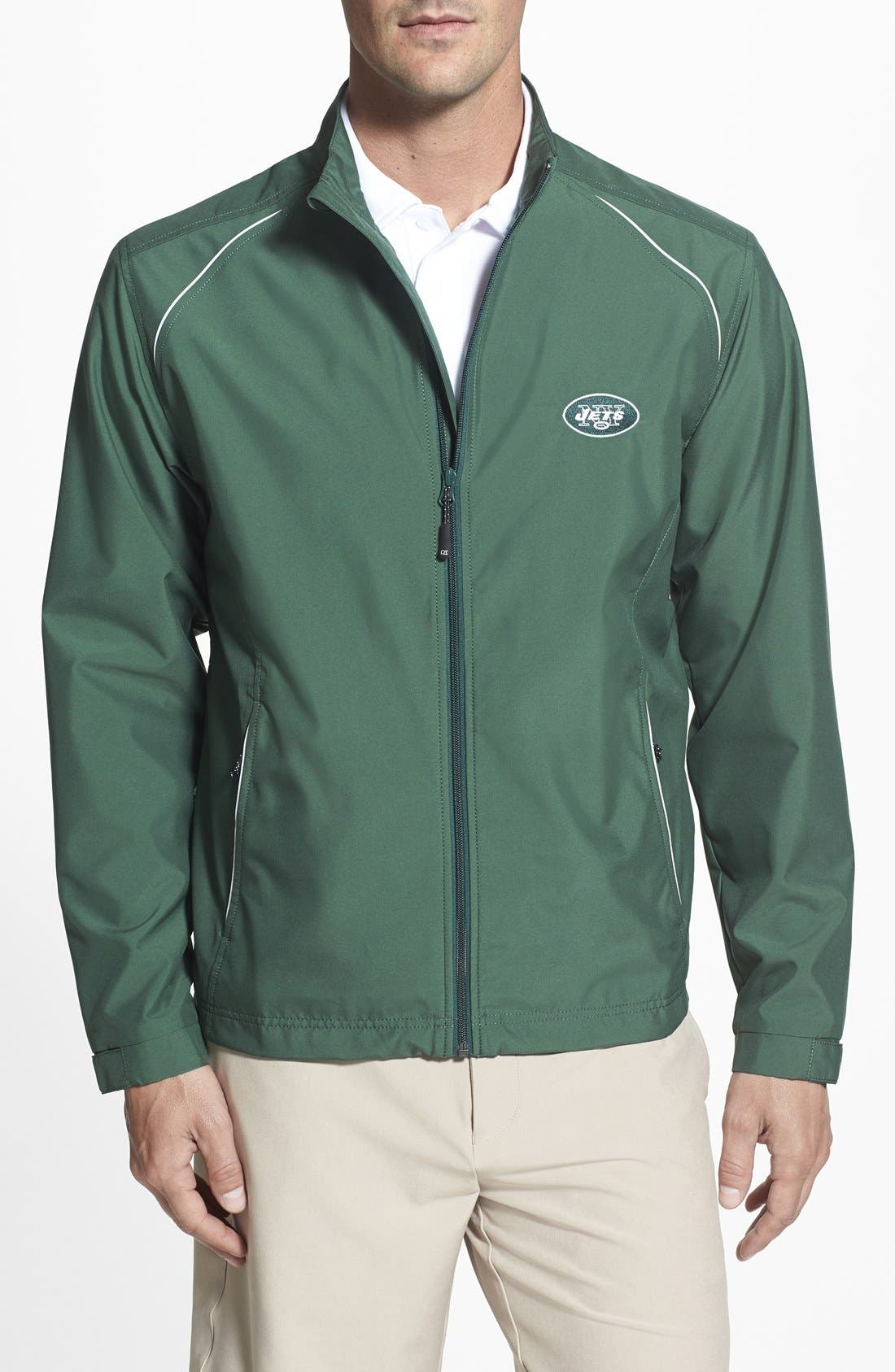 New York Jets - Beacon WeatherTec Wind & Water Resistant Jacket,                             Main thumbnail 1, color,                             377