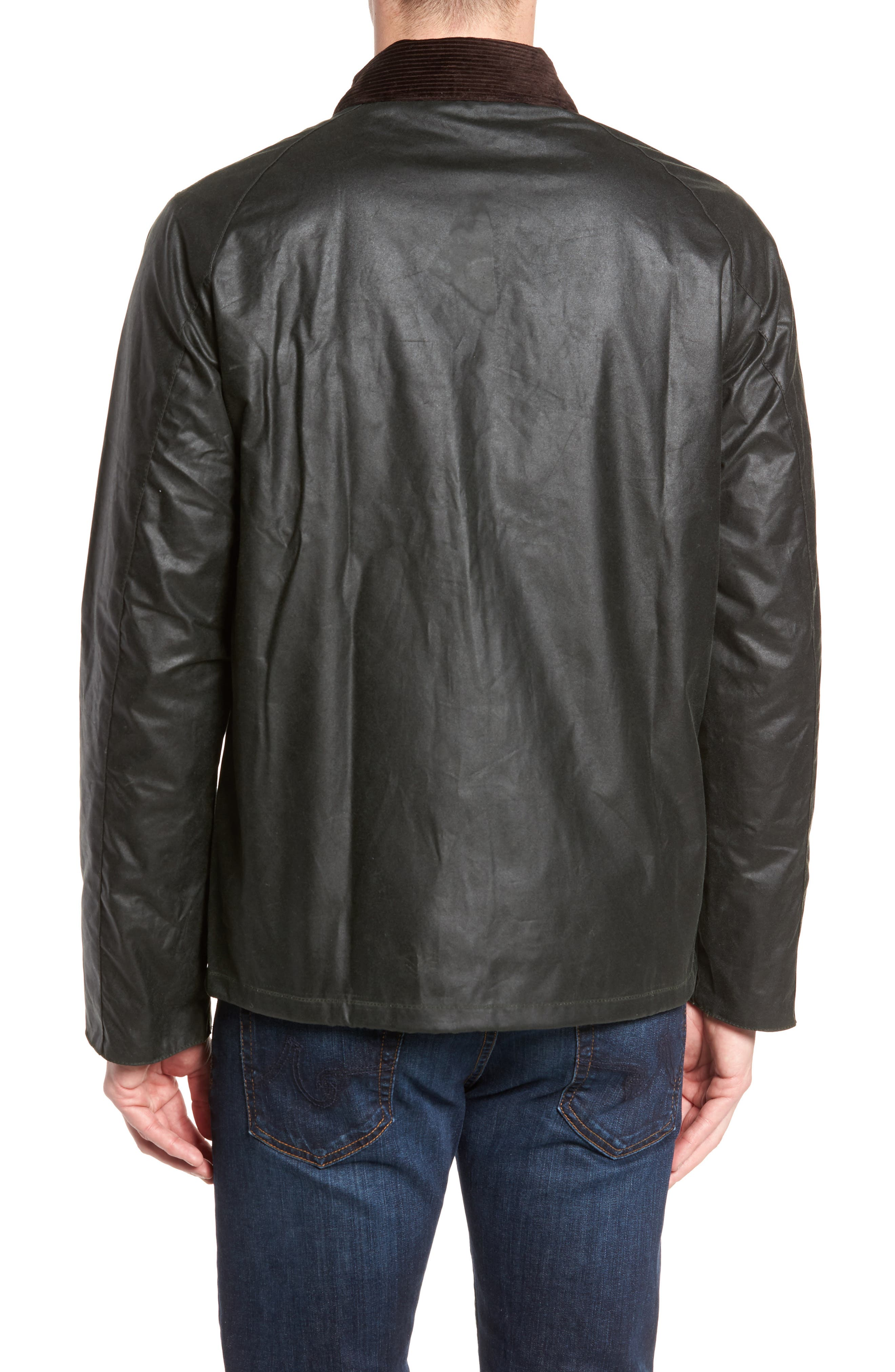 Heskin Waxed Cotton Jacket,                             Alternate thumbnail 2, color,                             SAGE