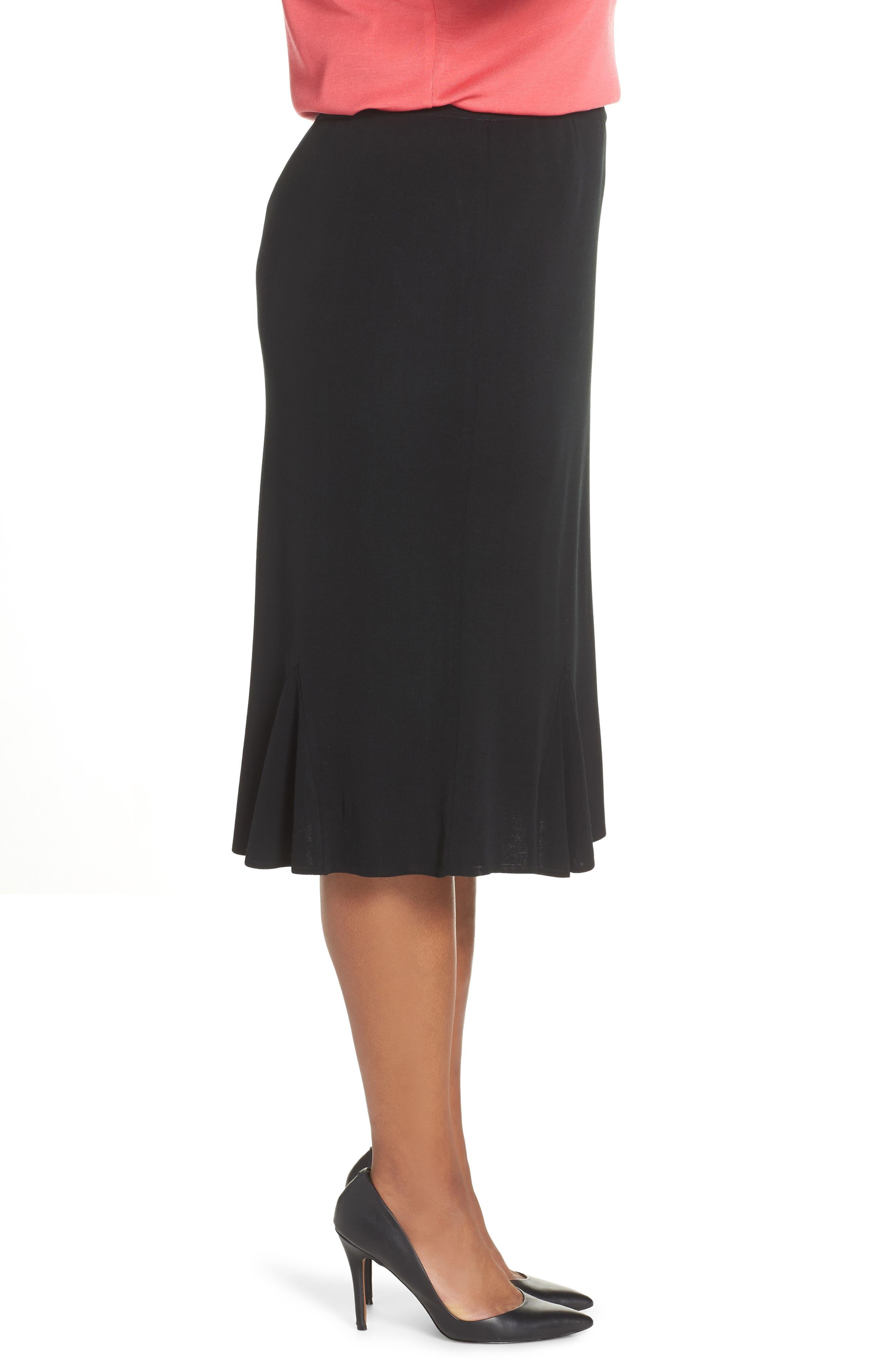 Gore Flare Skirt,                             Alternate thumbnail 3, color,                             BLACK