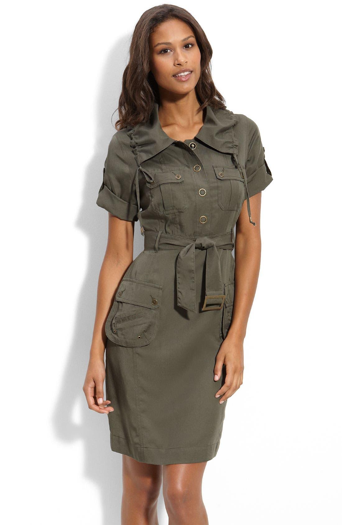 Twill Cargo Shirtdress, Main, color, 300