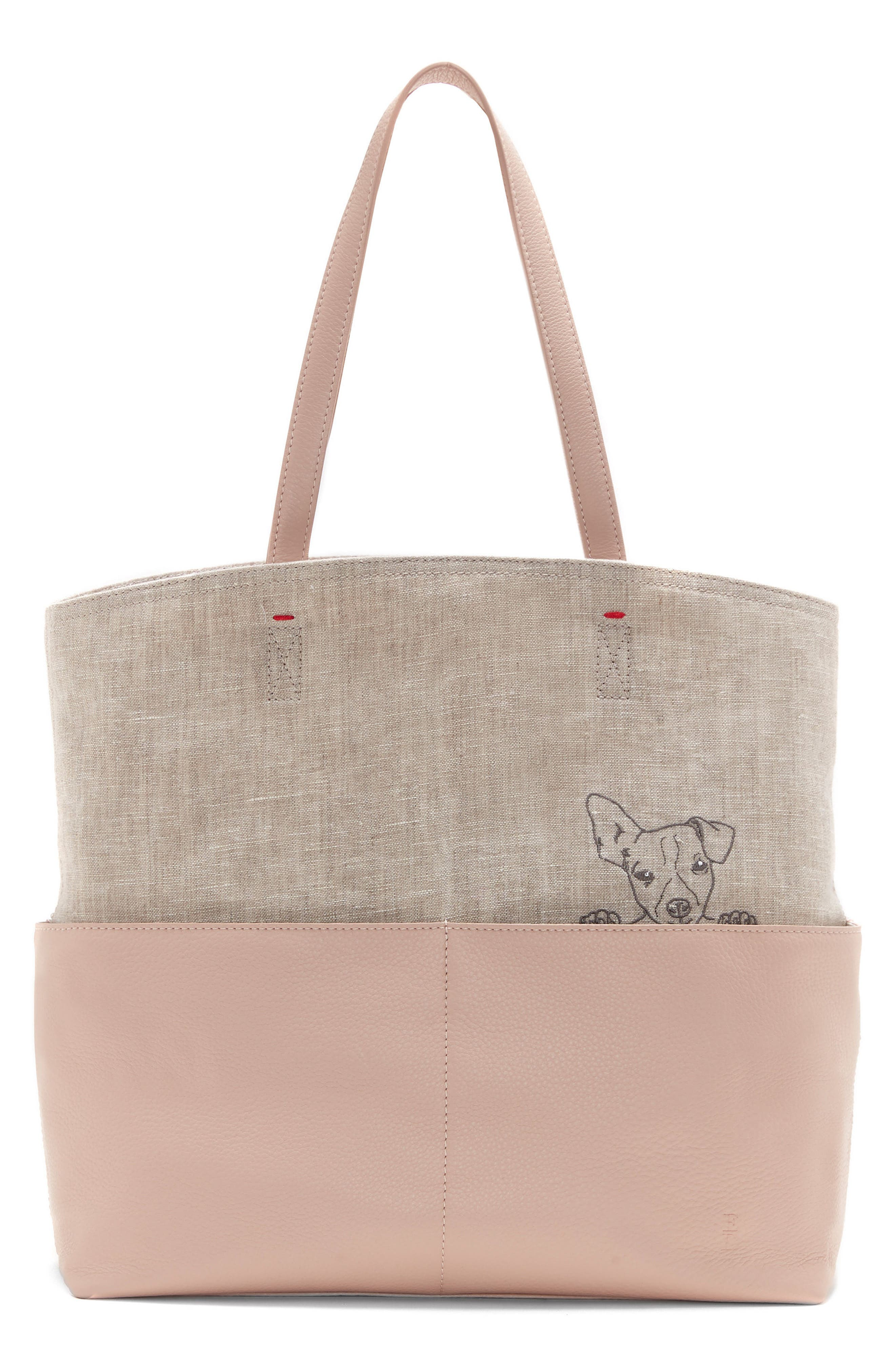 Henlee Canvas & Leather Tote,                         Main,                         color, 650