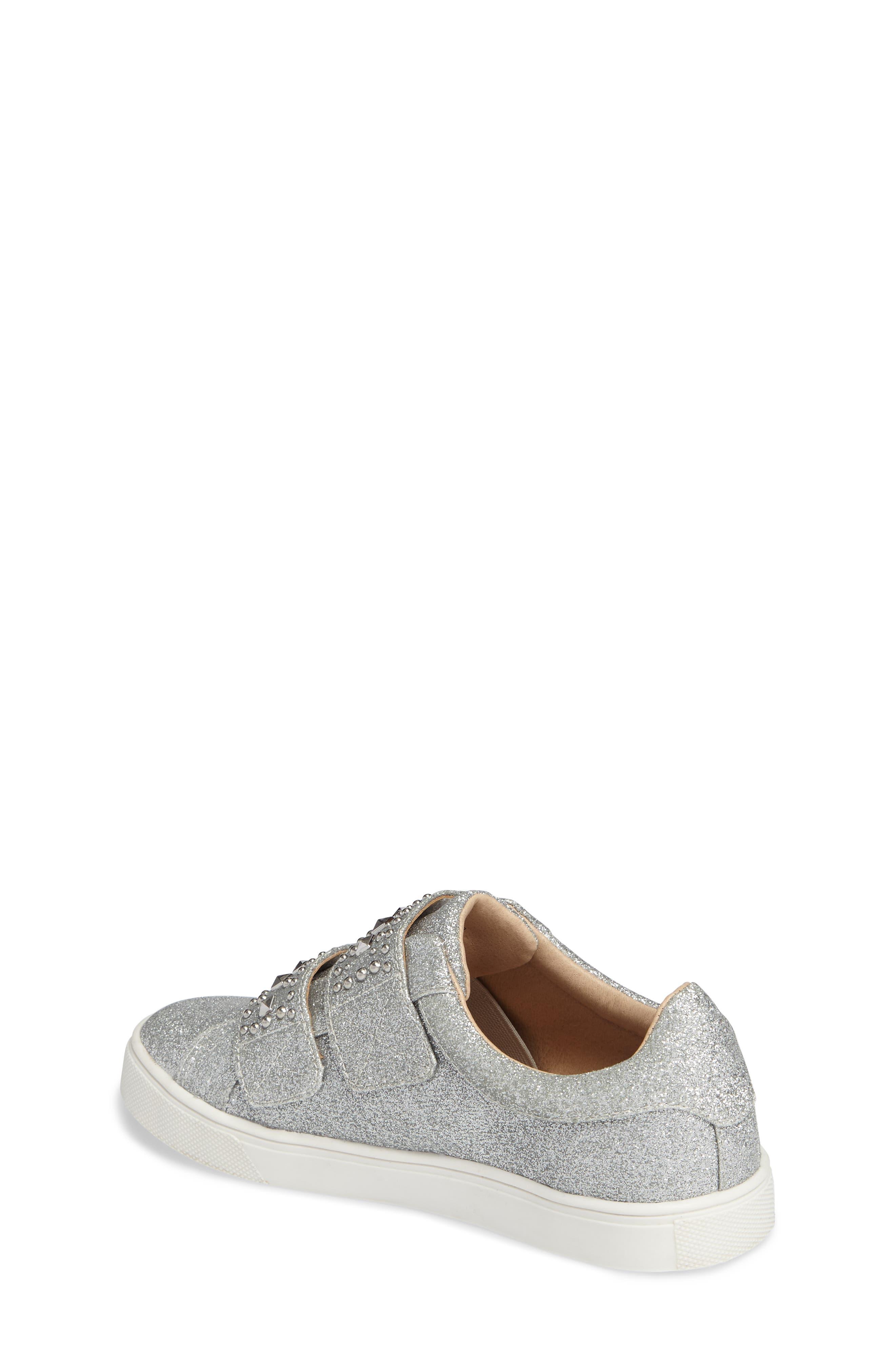 Baylen Embellished Glitter Sneaker,                             Alternate thumbnail 2, color,                             SILVER GLITTER