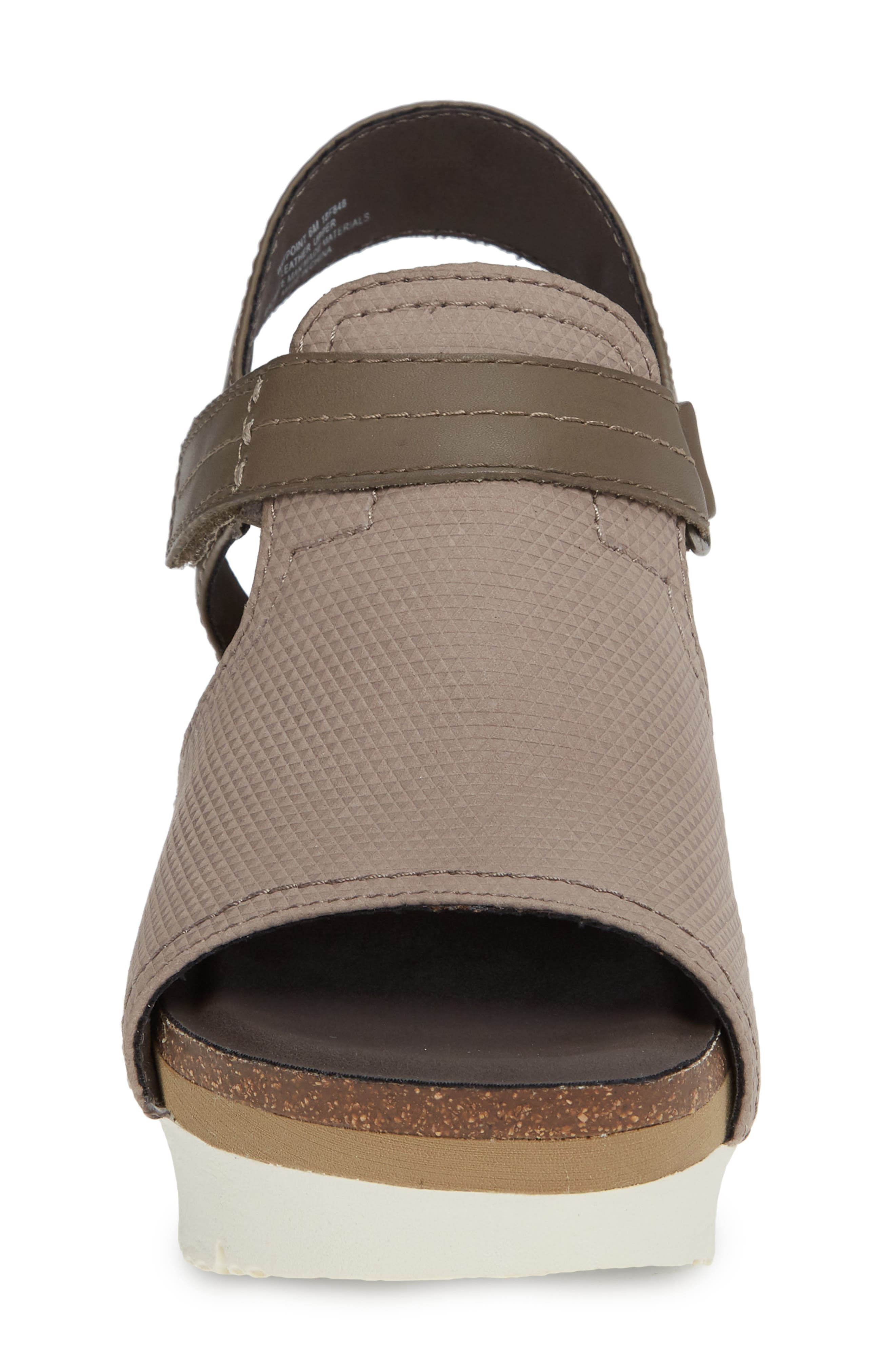 Waypoint Wedge Sandal,                             Alternate thumbnail 4, color,                             CACAO LEATHER