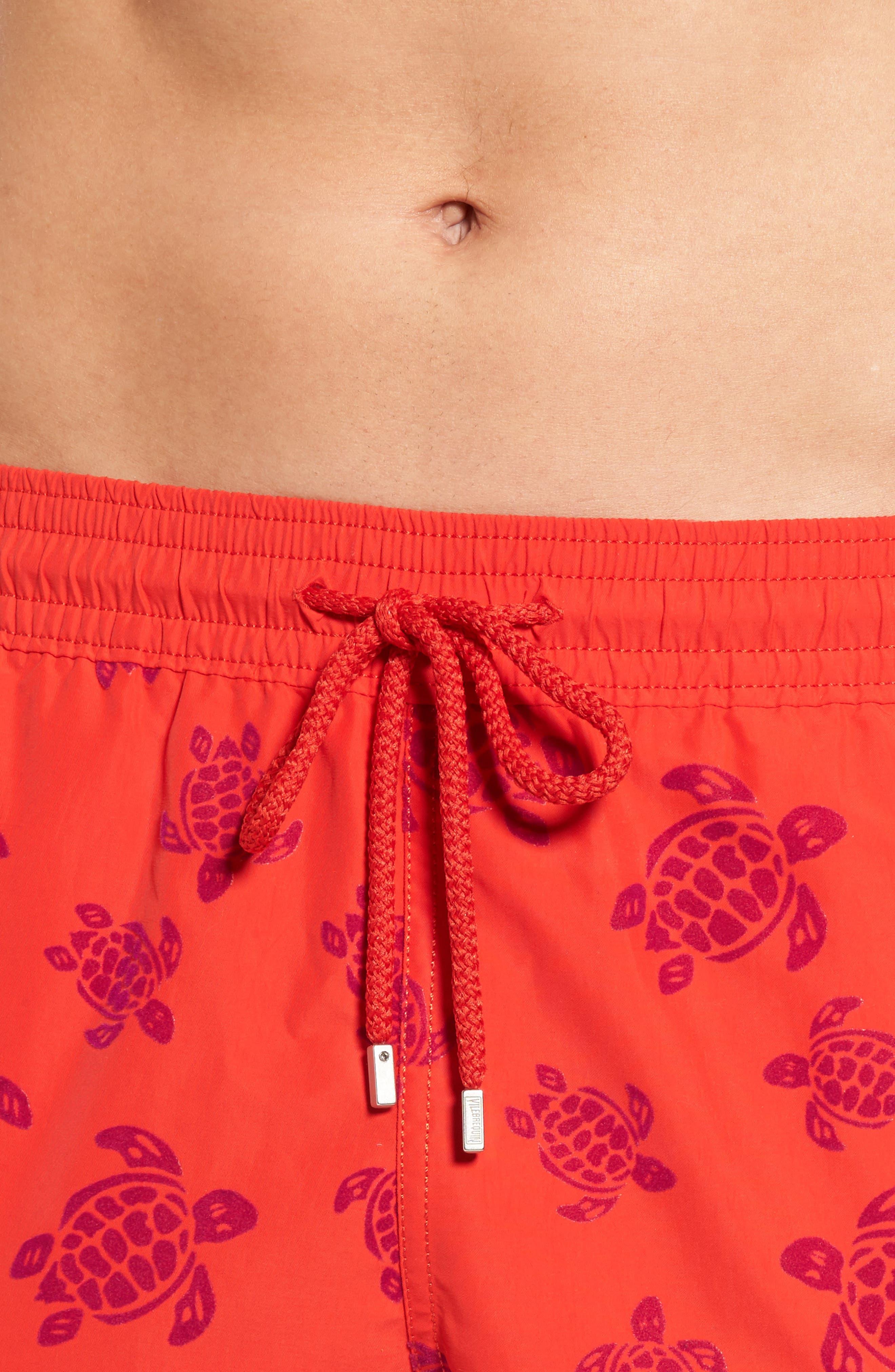 Flocked Turtles Swim Trunks,                             Alternate thumbnail 4, color,                             612