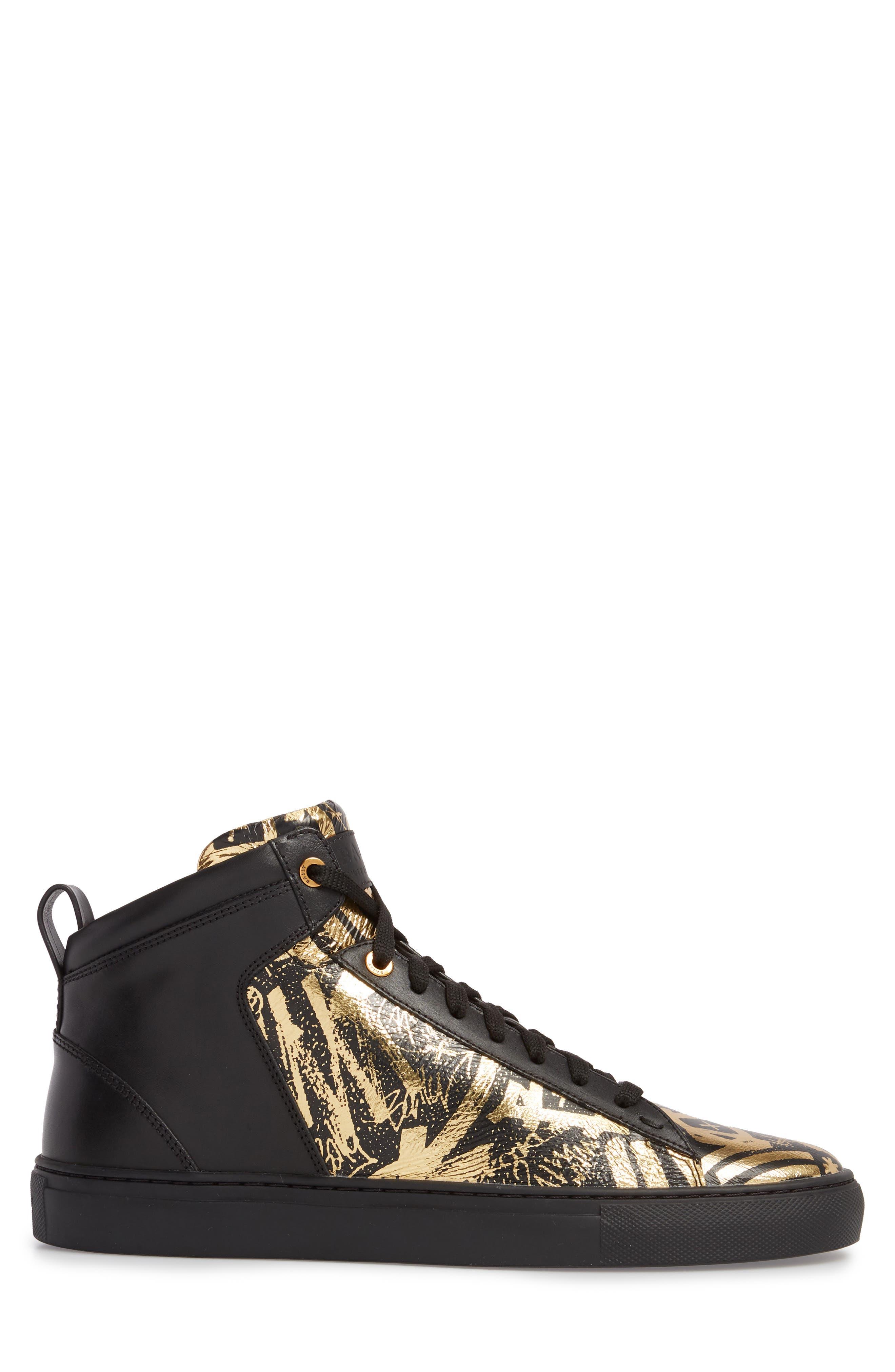 Hedo High Top Sneaker,                             Alternate thumbnail 3, color,                             GOLD