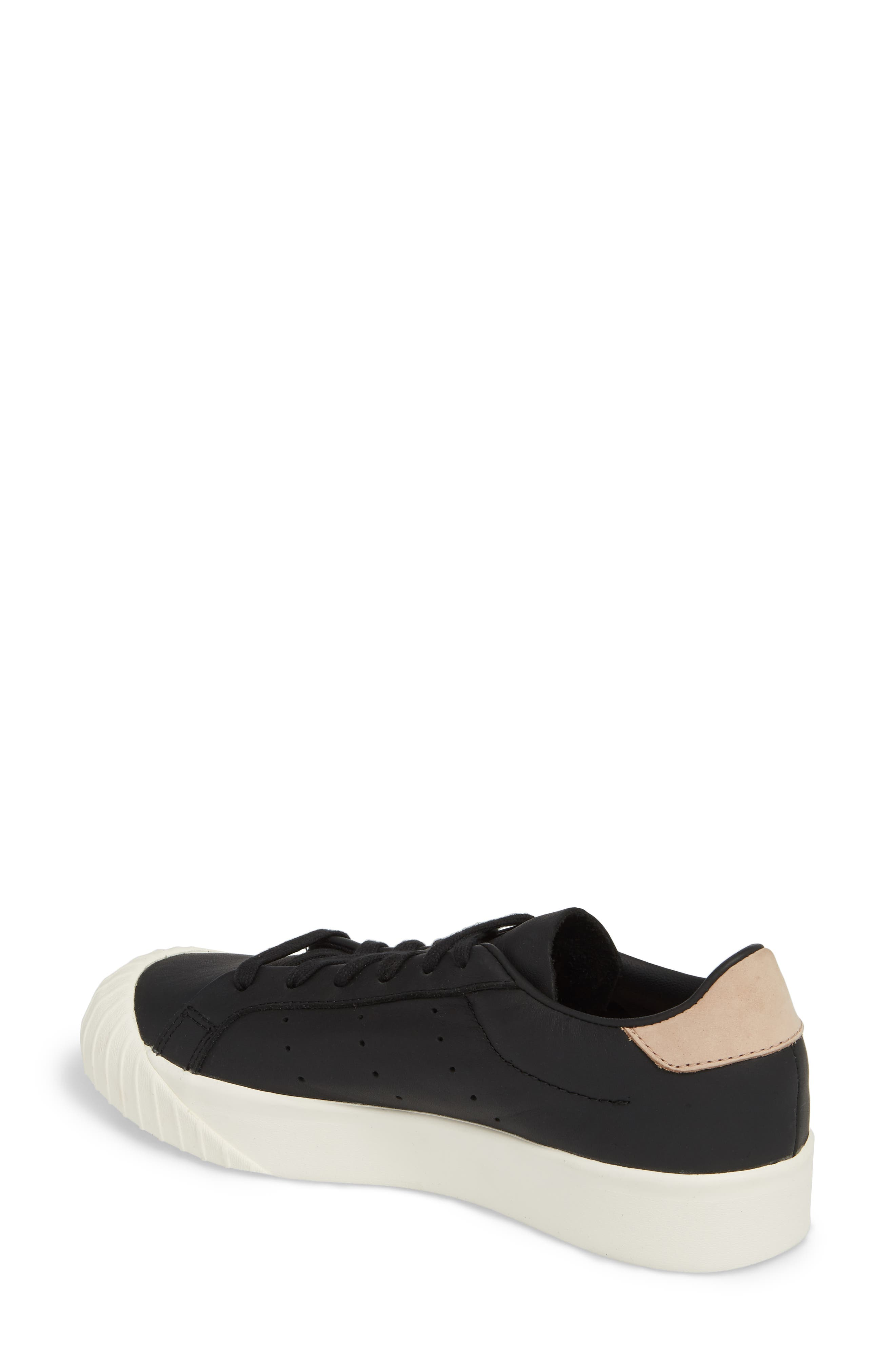Everyn Perforated Low Top Sneaker,                             Alternate thumbnail 2, color,                             001