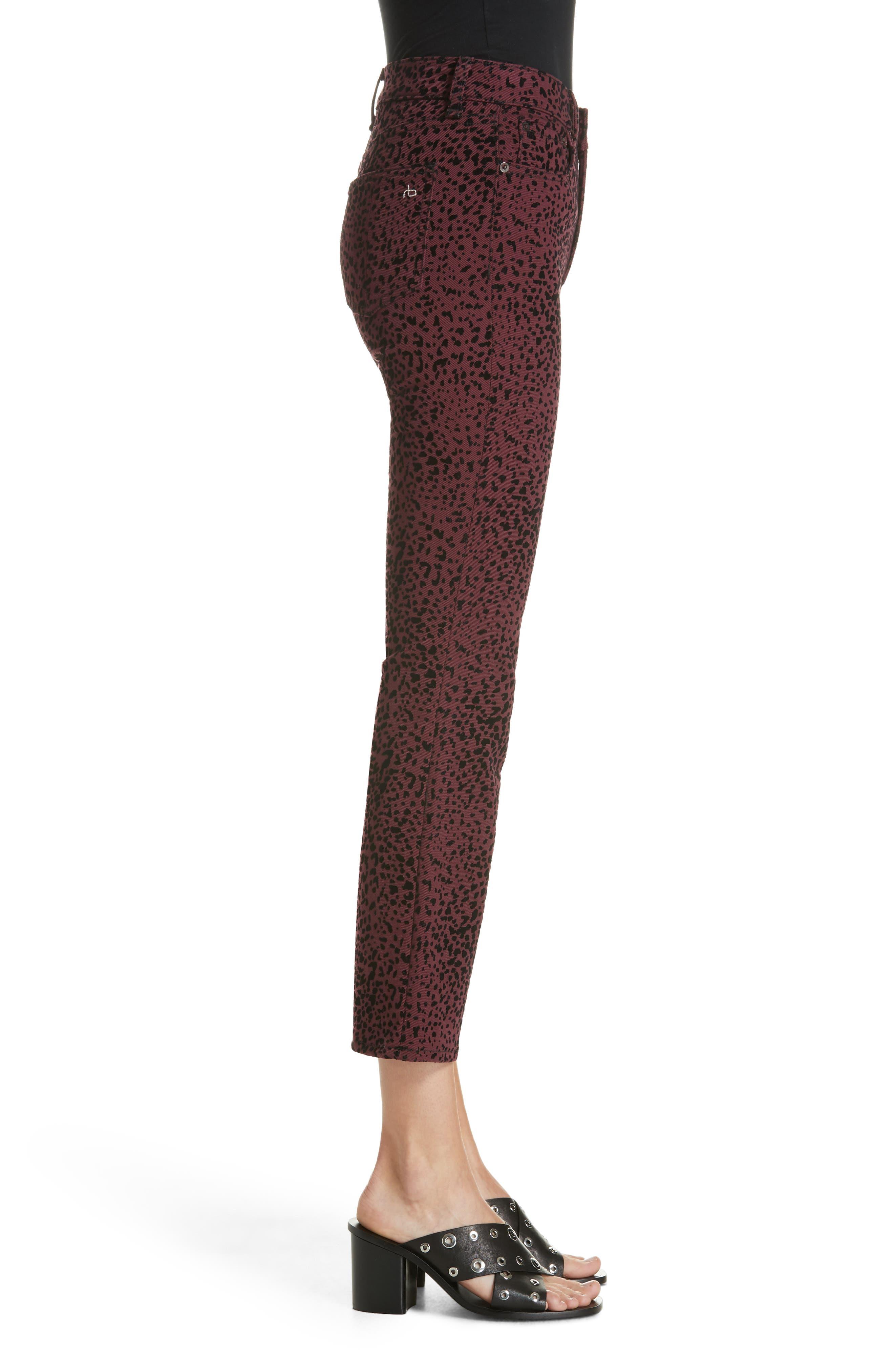 Hana High Waist Crop Flare Jeans,                             Alternate thumbnail 3, color,                             930