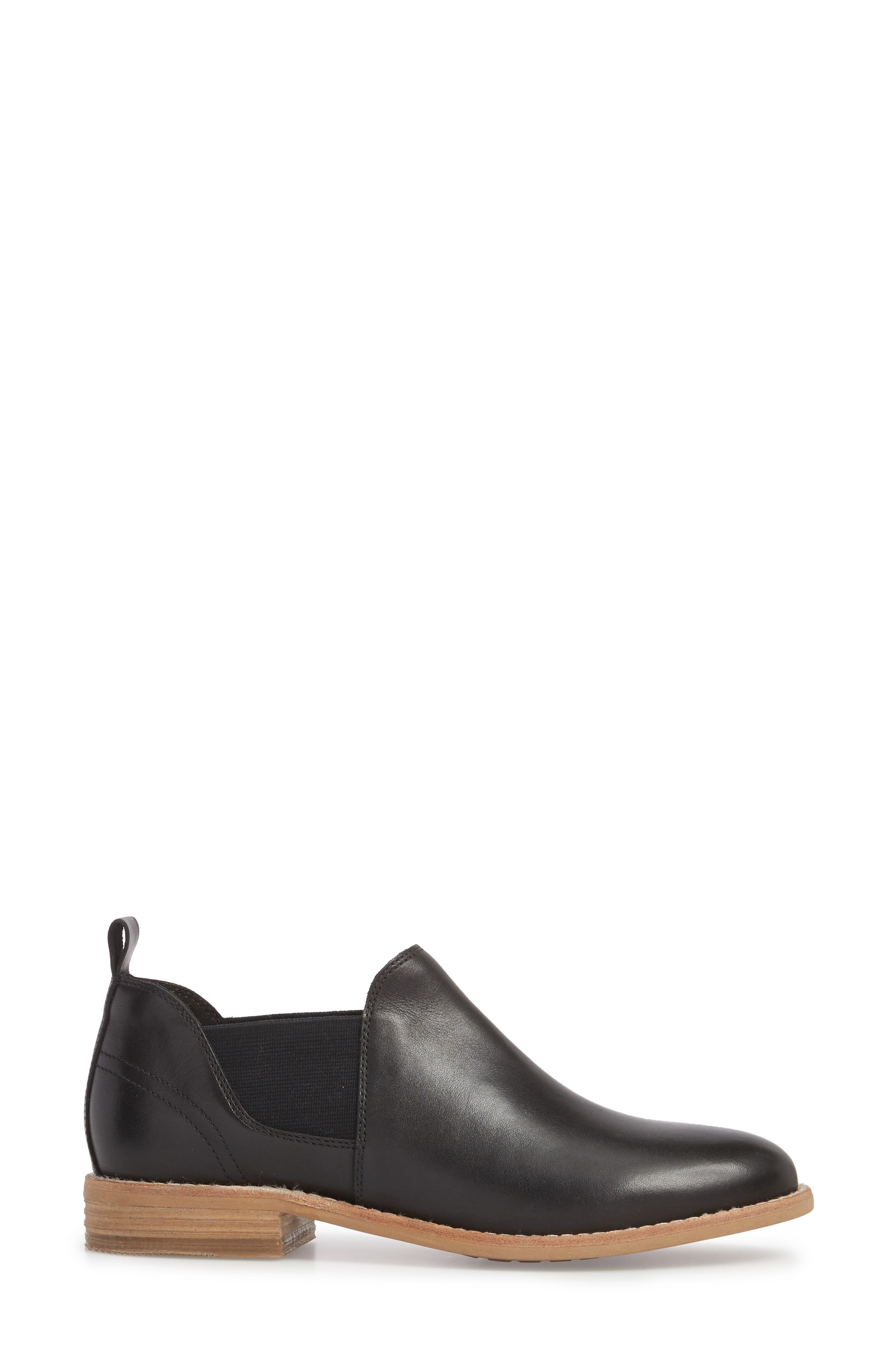 Edenvale Page Bootie,                             Alternate thumbnail 3, color,                             BLACK LEATHER