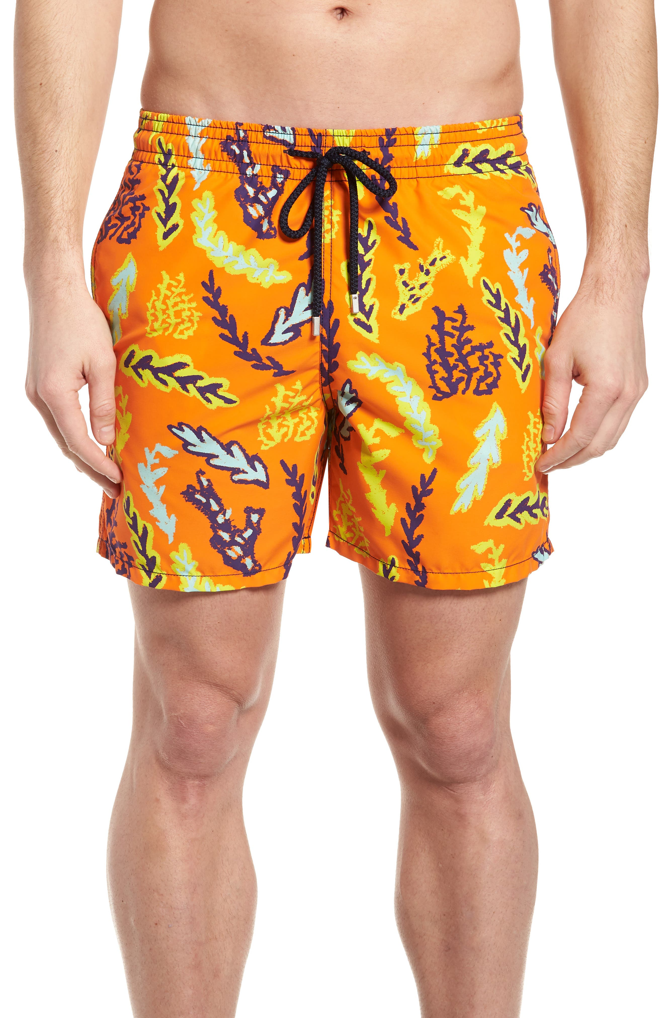 Solar Seaweed Print Swim Trunks,                         Main,                         color, 812