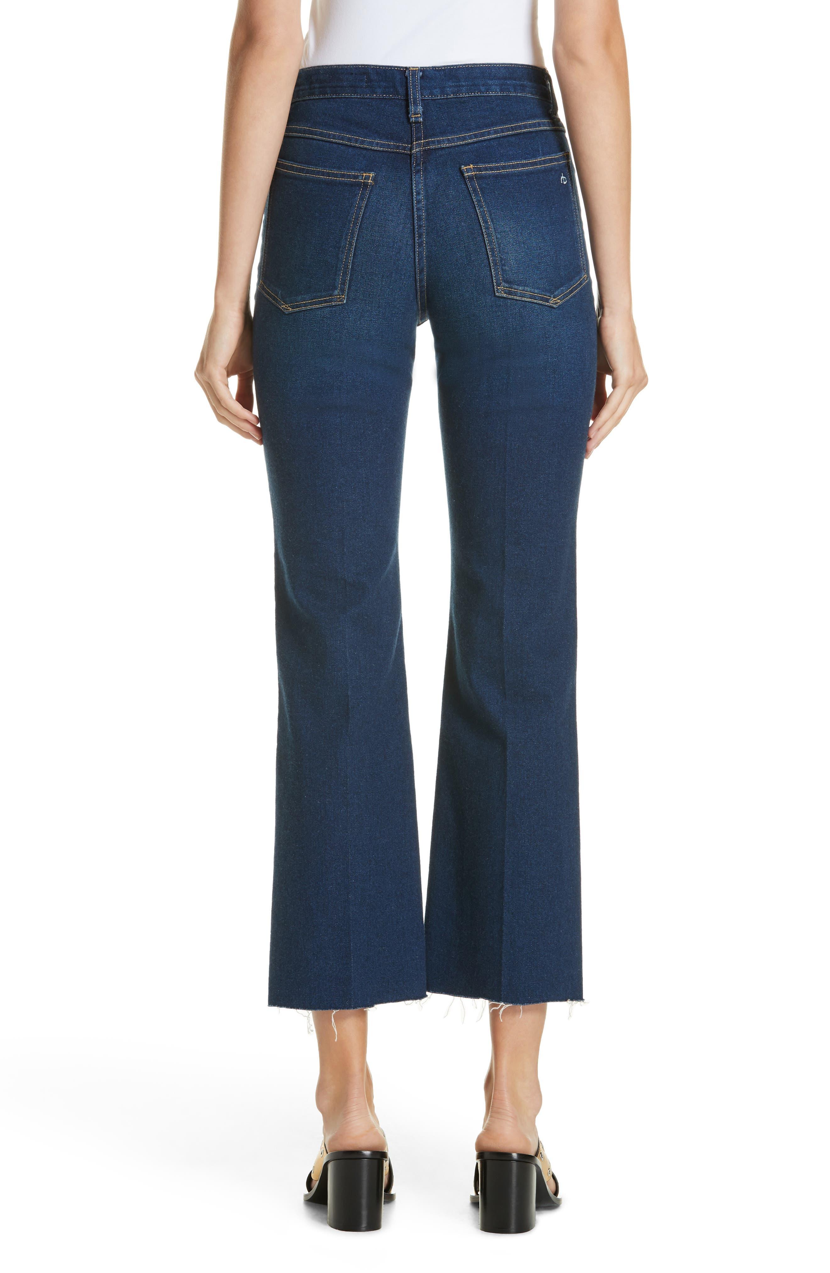 RAG & BONE,                             Justine High Waist Crop Wide Leg Jeans,                             Alternate thumbnail 2, color,                             410