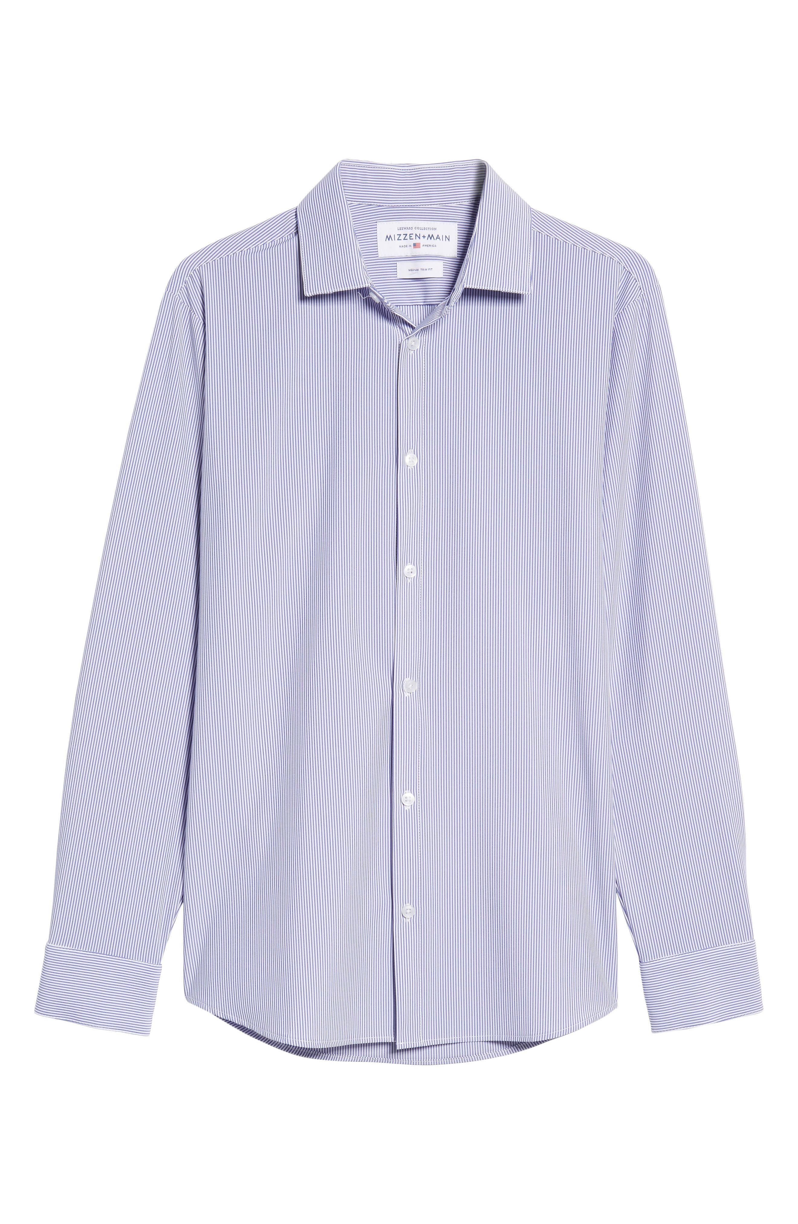 Newport Pinstripe Sport Shirt,                             Alternate thumbnail 6, color,