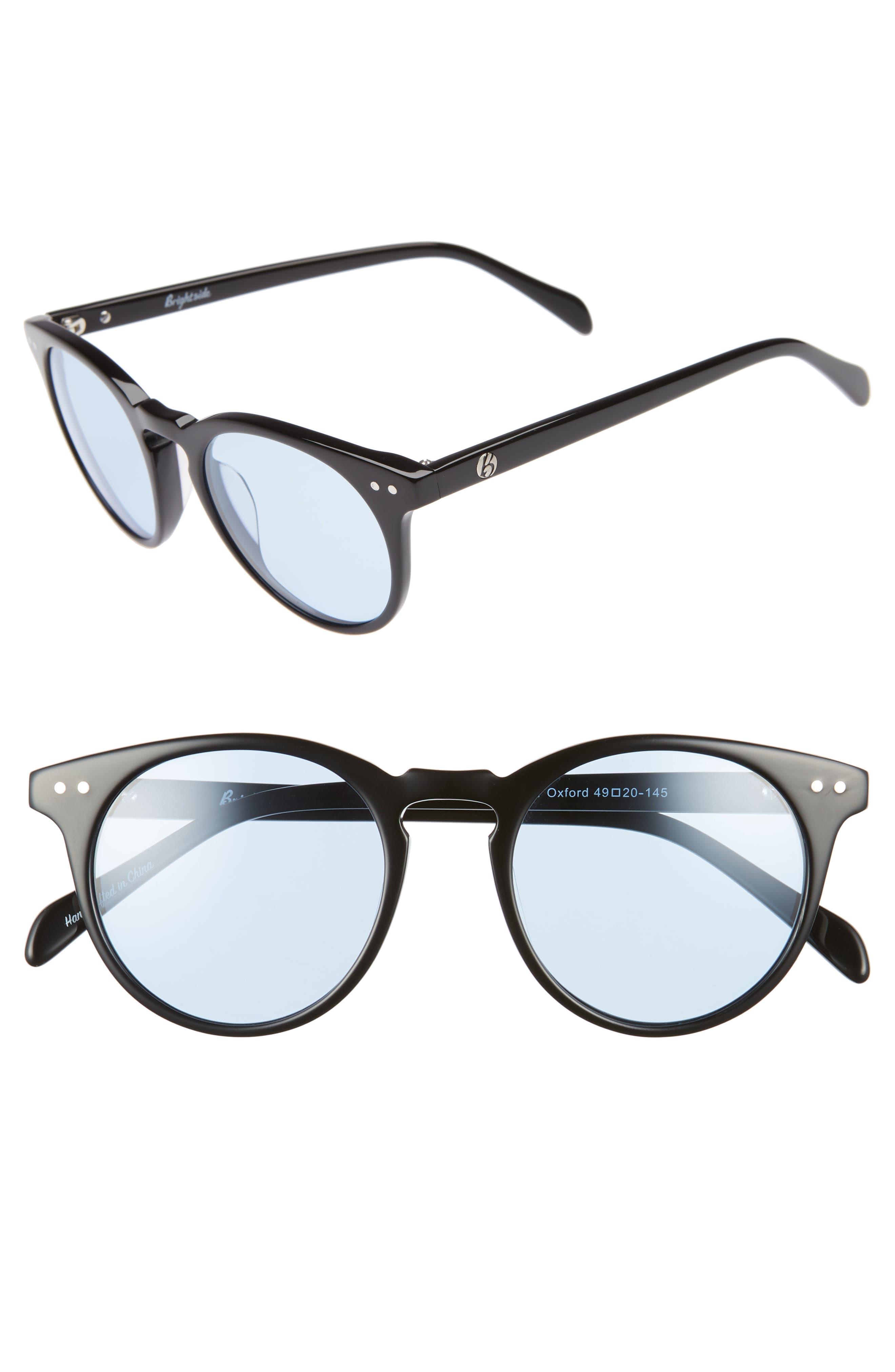 Oxford 49mm Sunglasses,                             Main thumbnail 1, color,                             BLACK/ ARCTIC BLUE