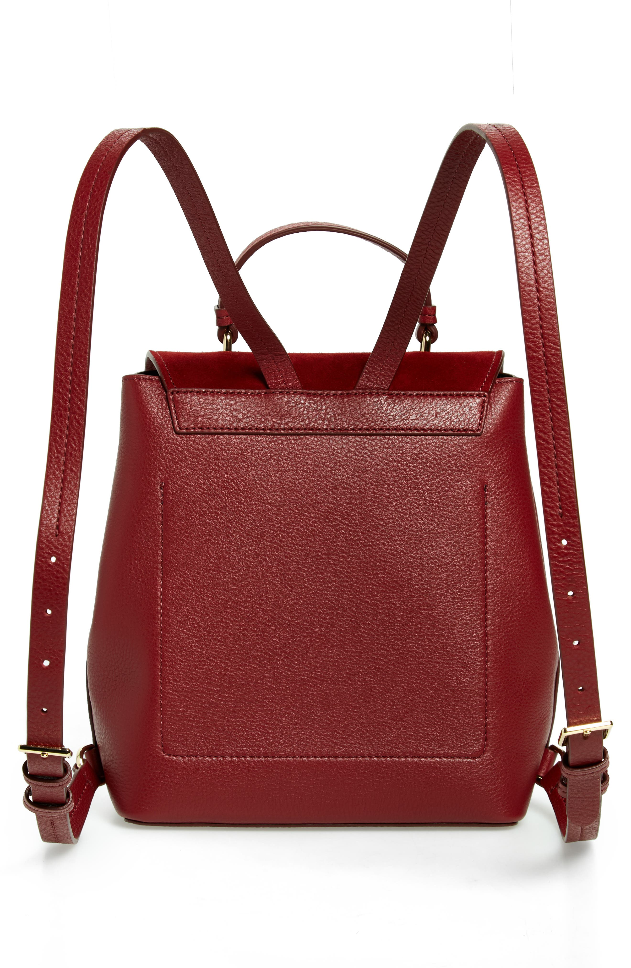 KATE SPADE NEW YORK,                             hayes street - teba leather & suede backpack,                             Alternate thumbnail 3, color,                             600