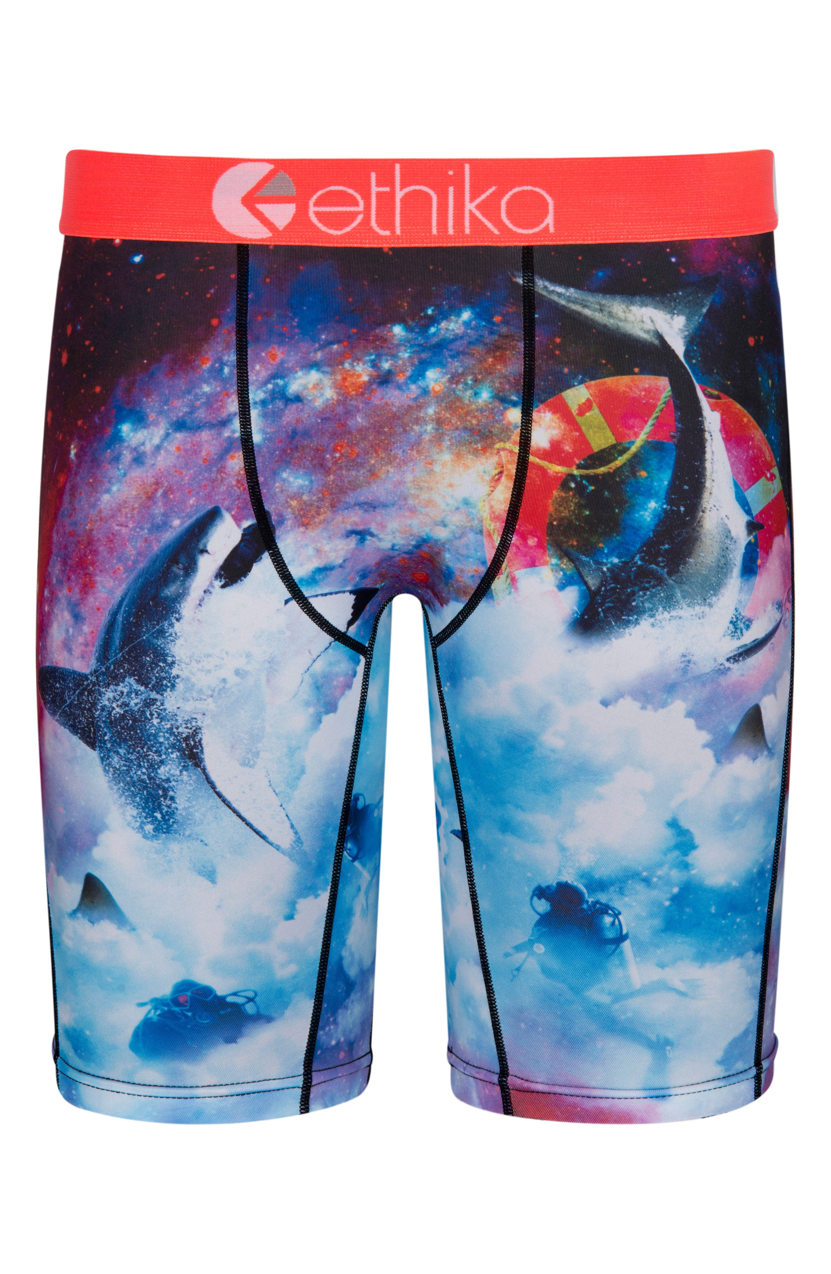 Space Sharks Stretch Boxer Briefs,                             Main thumbnail 1, color,