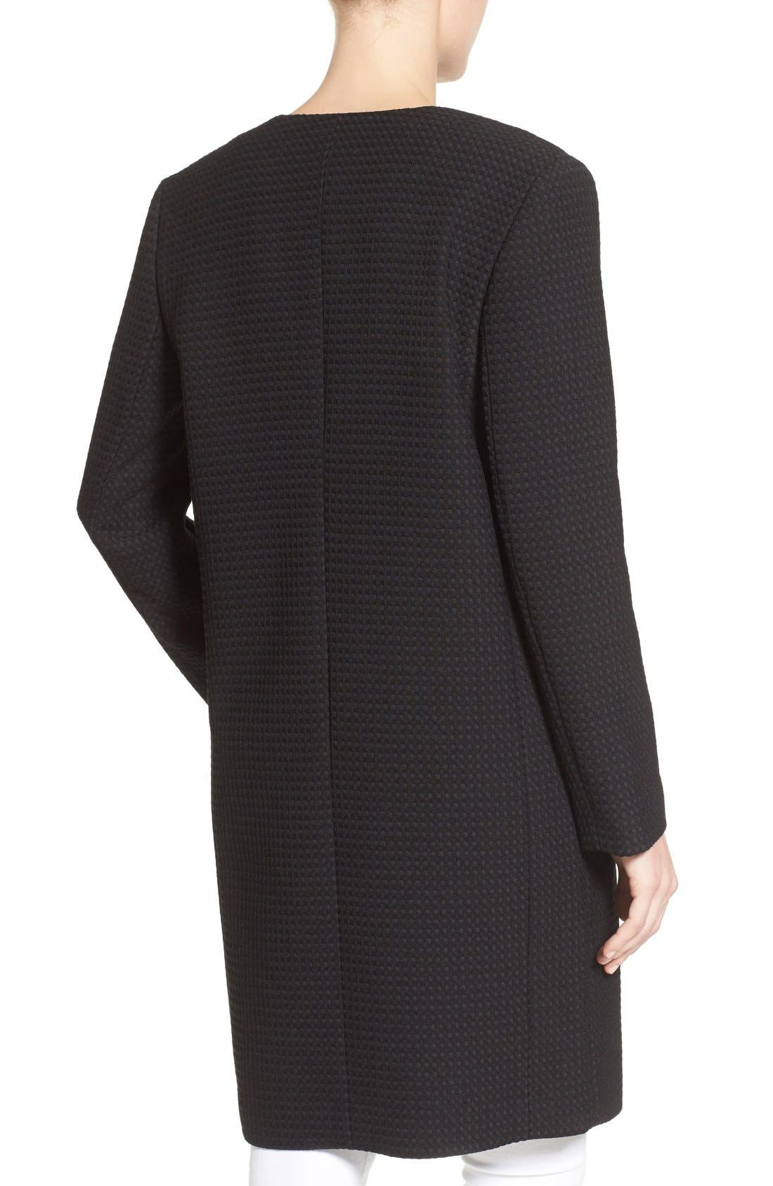Textured Collarless Topper,                             Alternate thumbnail 2, color,                             001