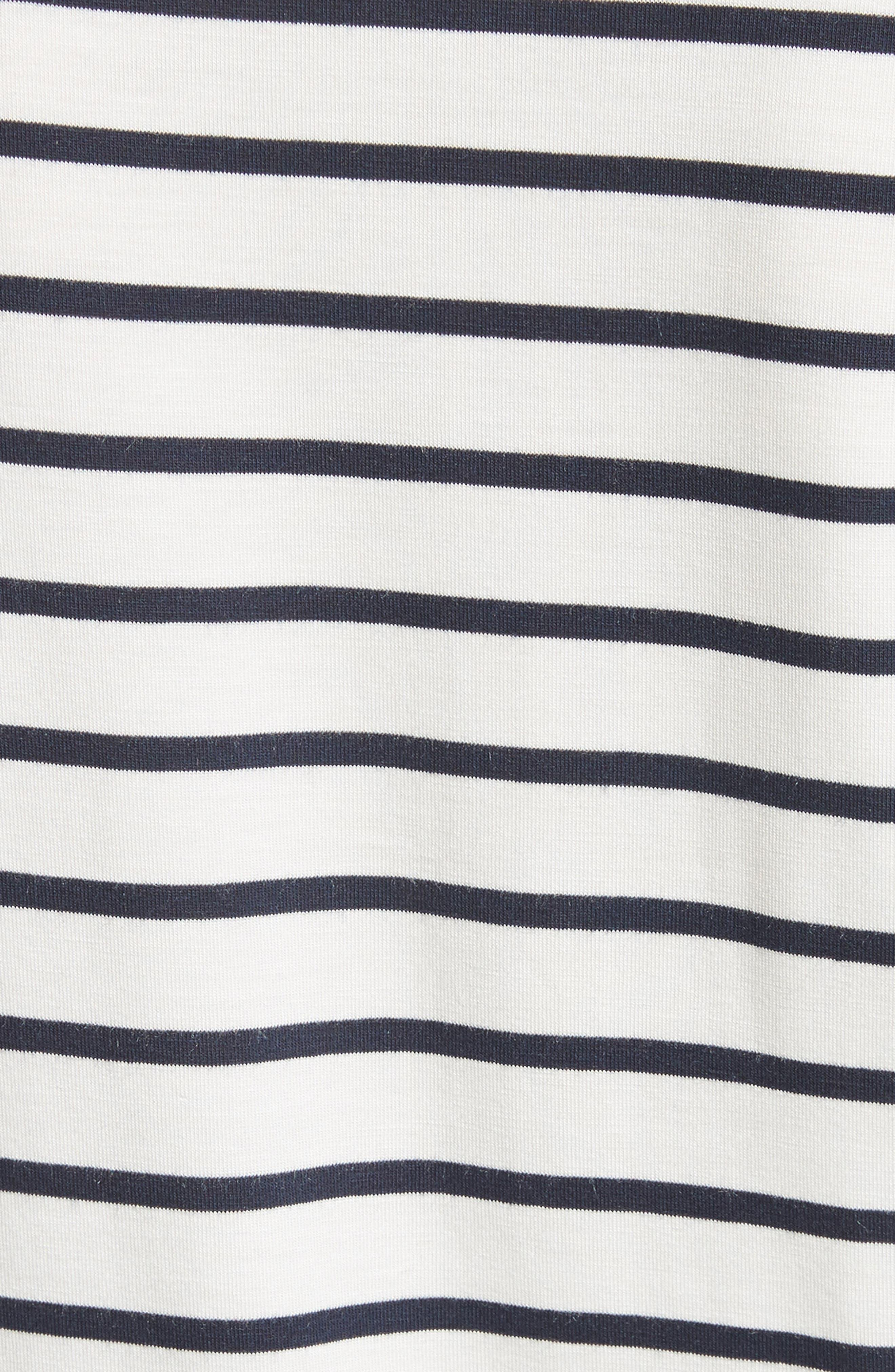 Stripe Boat Neck Top,                             Alternate thumbnail 5, color,                             402
