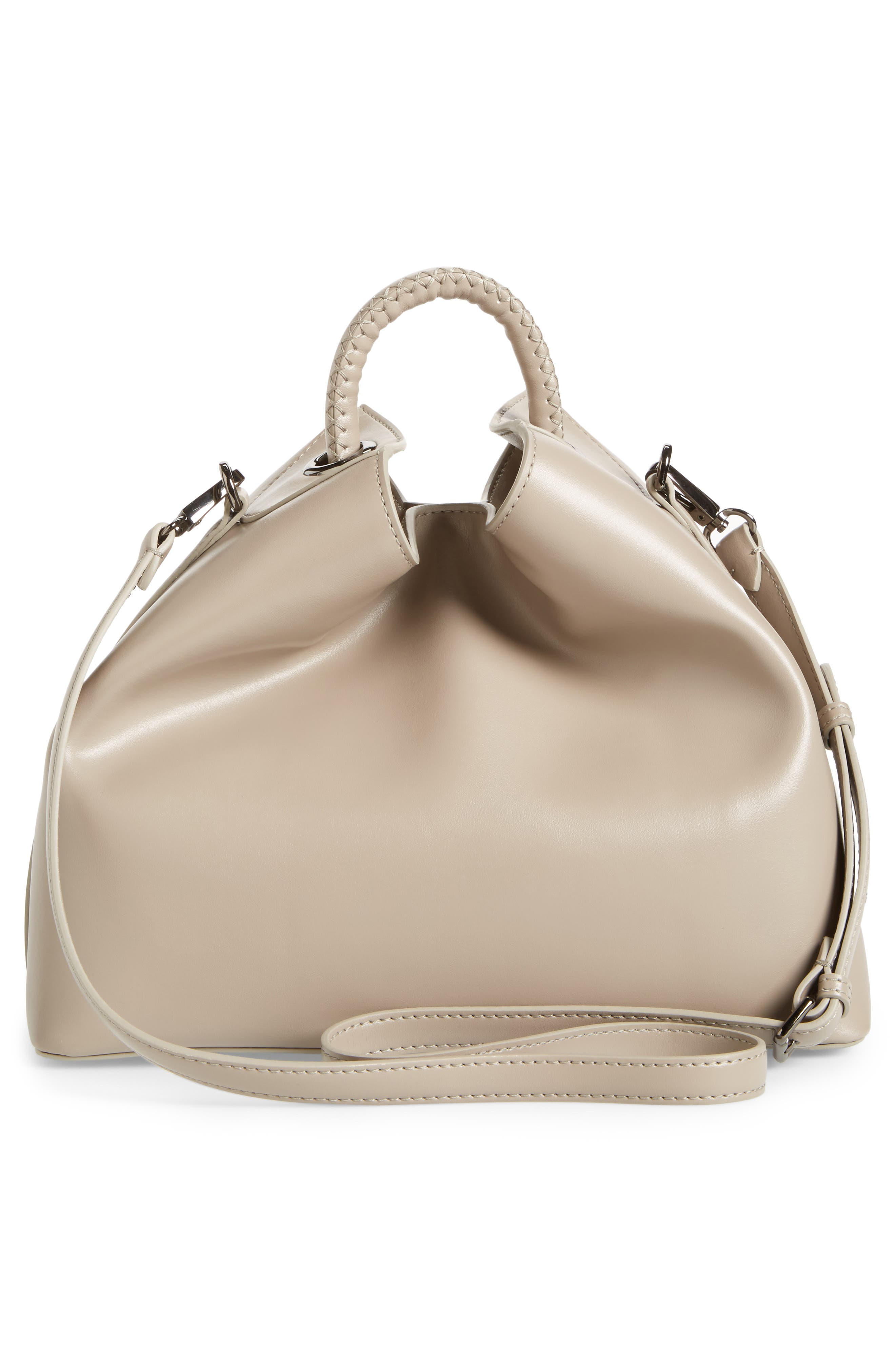 Raisin Leather Handbag,                             Alternate thumbnail 19, color,