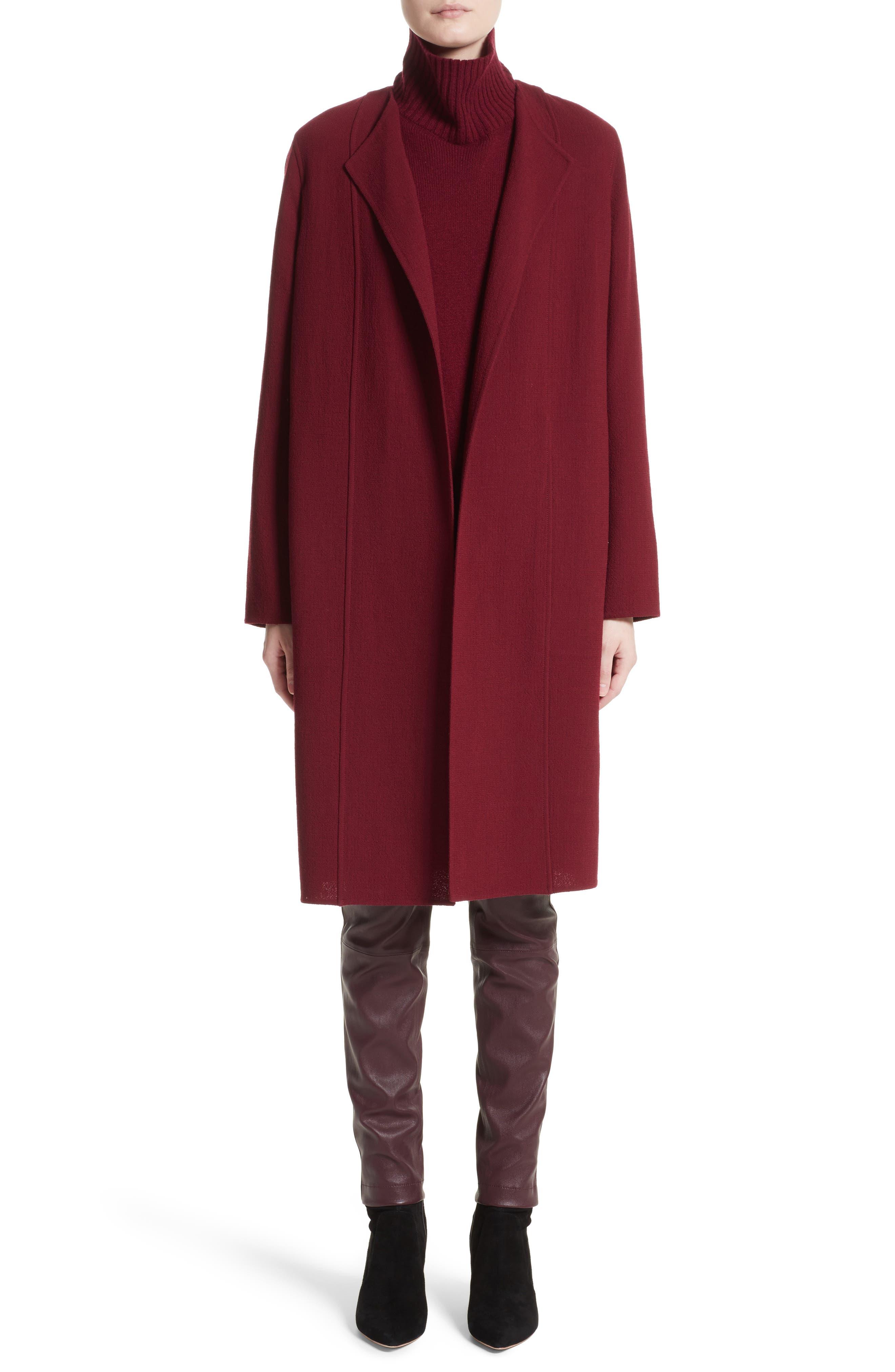 Robyn Nouveau Crepe Coat,                             Alternate thumbnail 7, color,