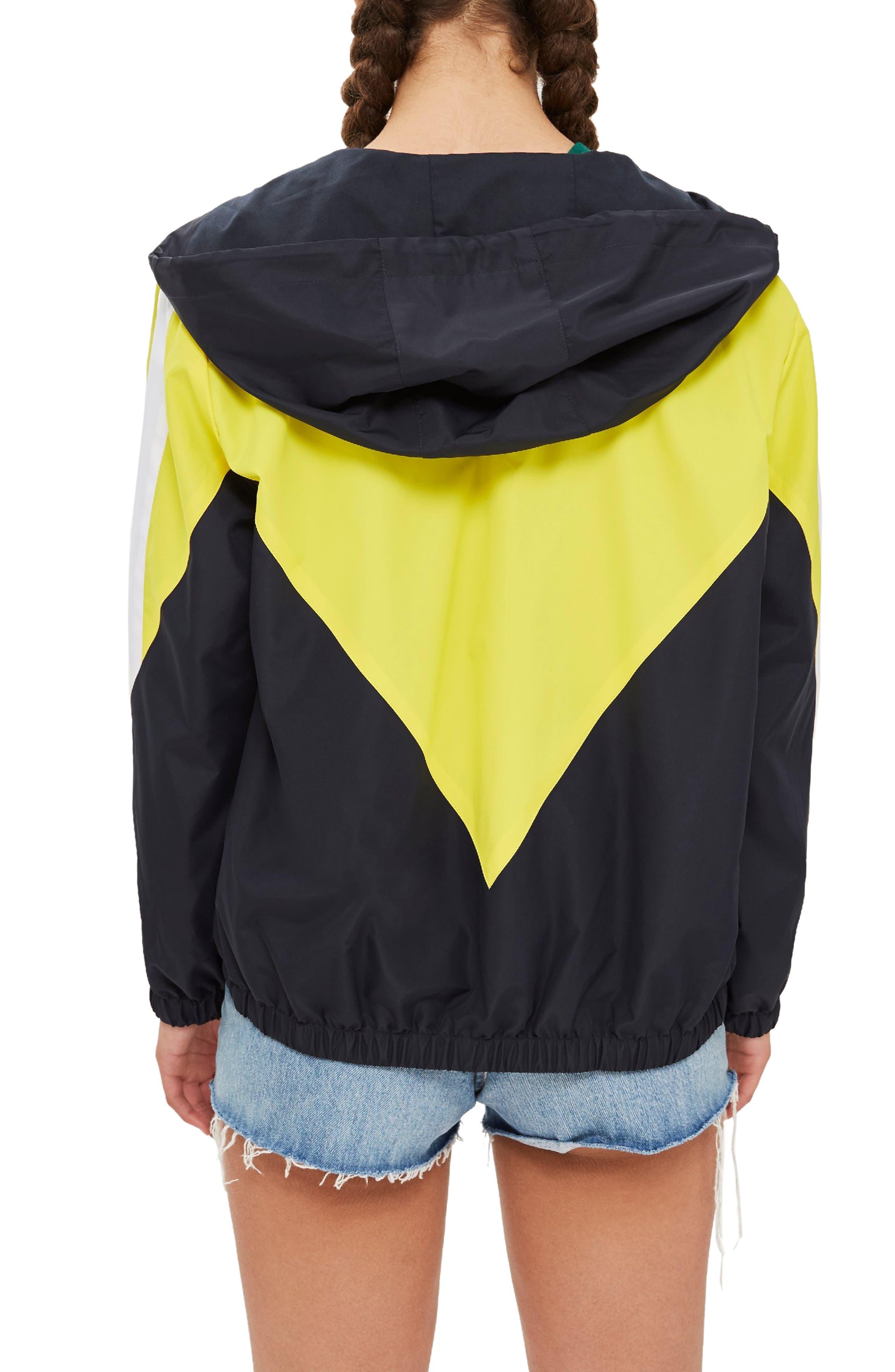 Texas Colorblock Windbreaker Jacket,                             Alternate thumbnail 2, color,                             YELLOW MULTI