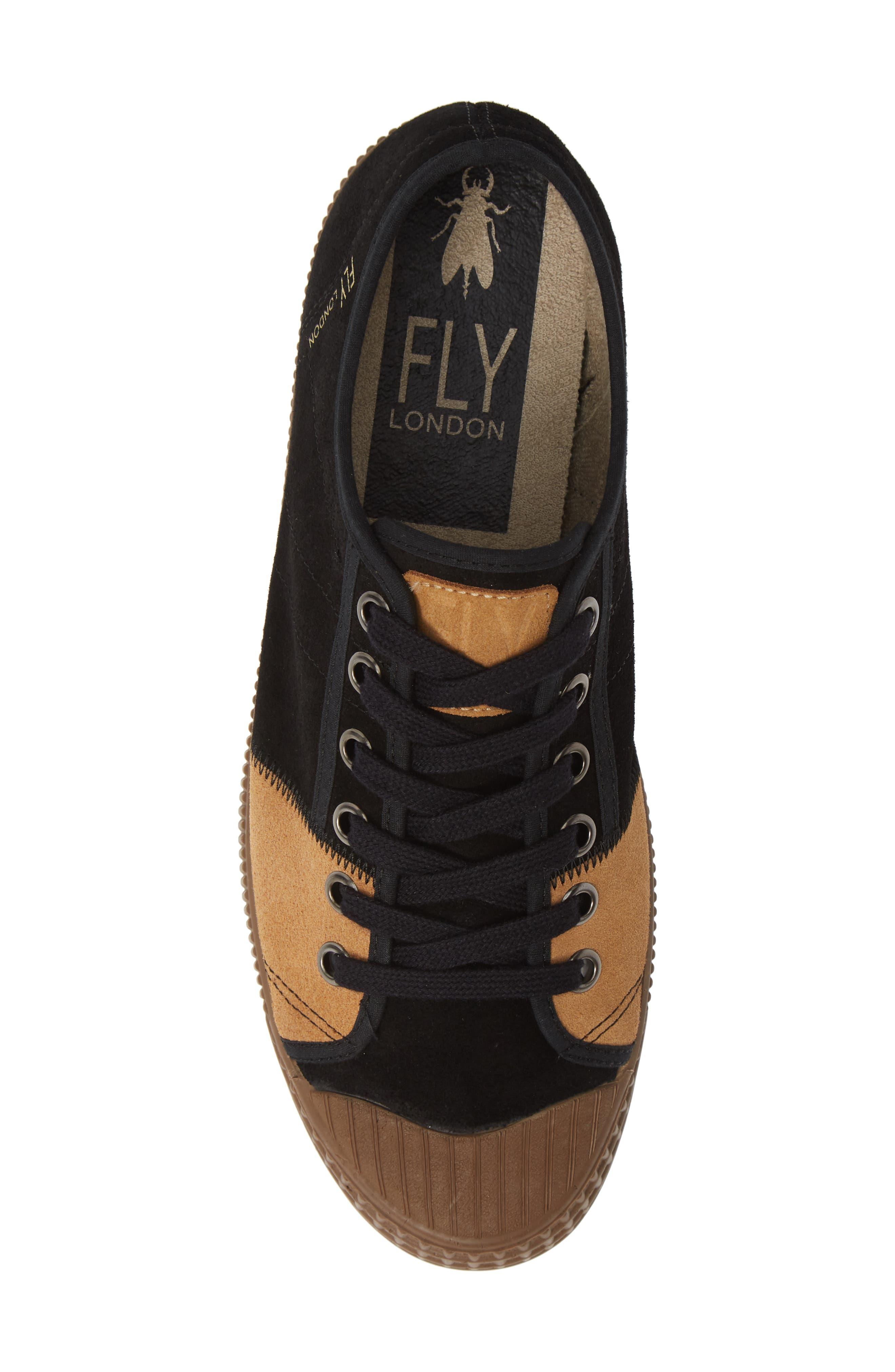Foto Sneaker,                             Alternate thumbnail 5, color,                             BLACK/ CAMEL SUEDE