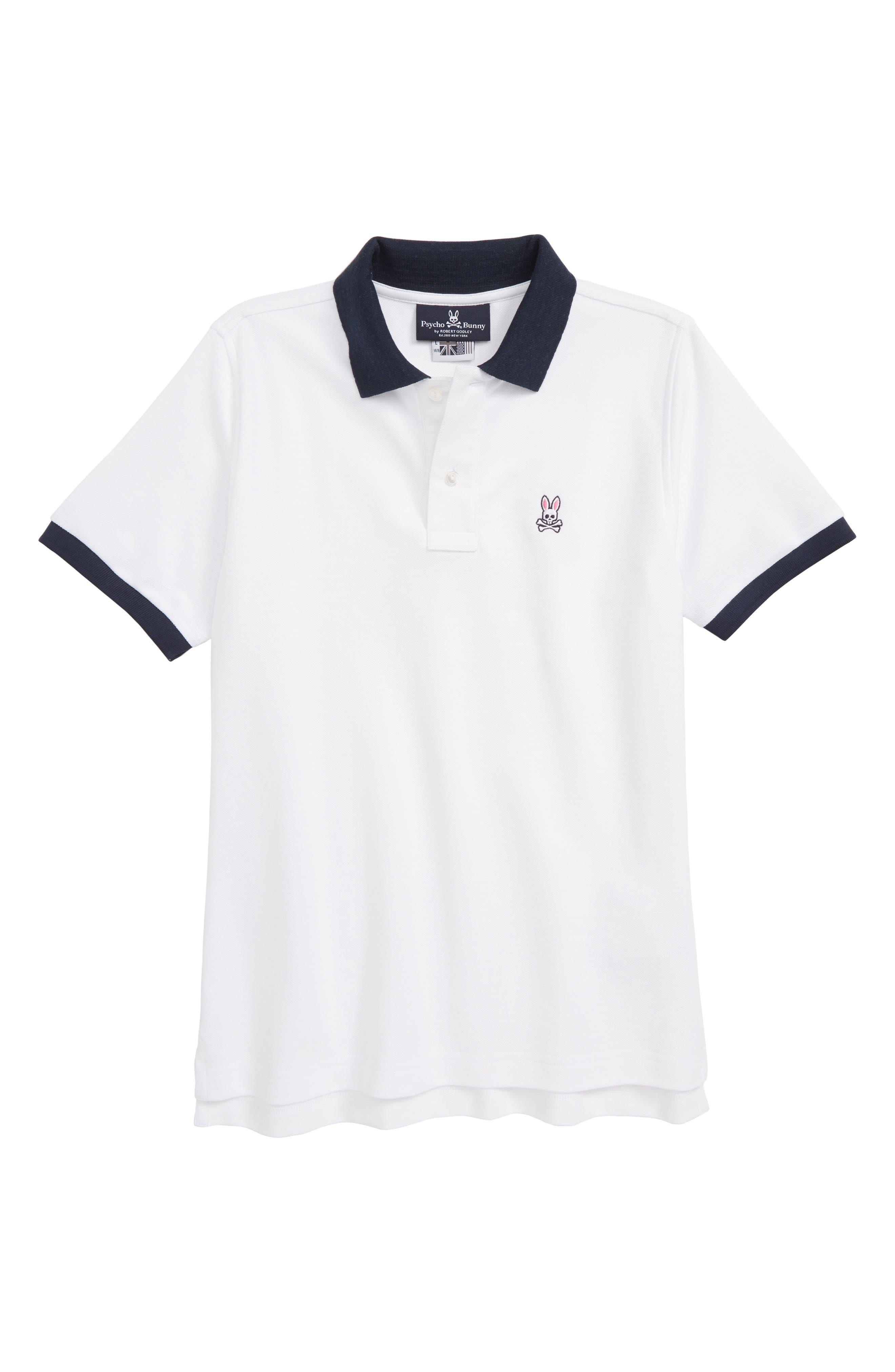 Thorpe Piqué Polo,                             Main thumbnail 1, color,                             WHITE