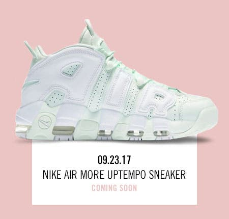 Nordstrom x Nike: new and hot Nike Air More Uptempo Sneaker.