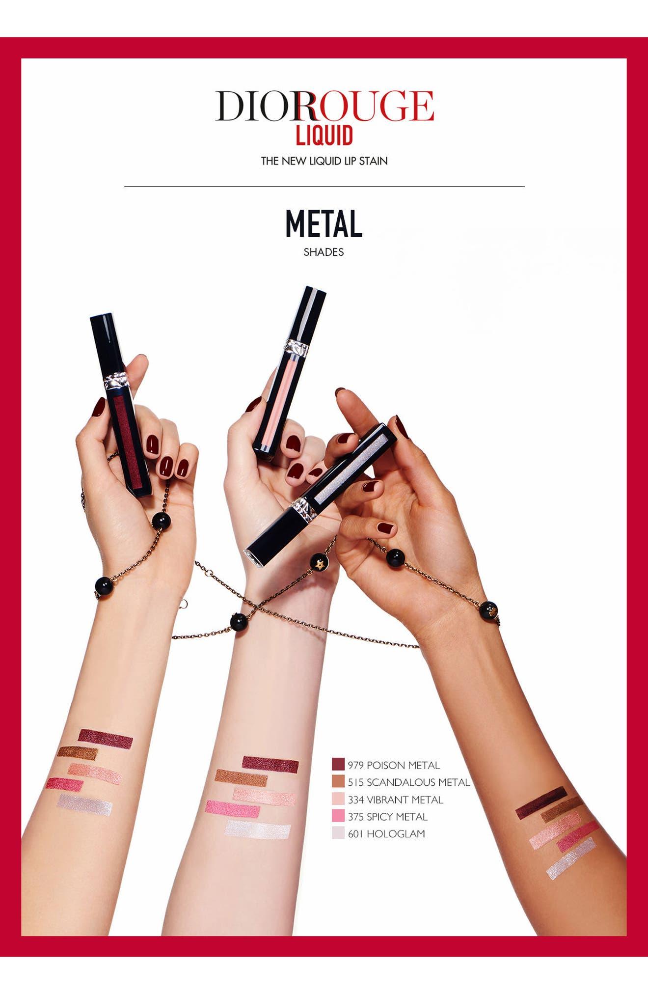 Rouge Dior Liquid Lip Stain,                             Alternate thumbnail 3, color,                             908 EXTREME BLACK