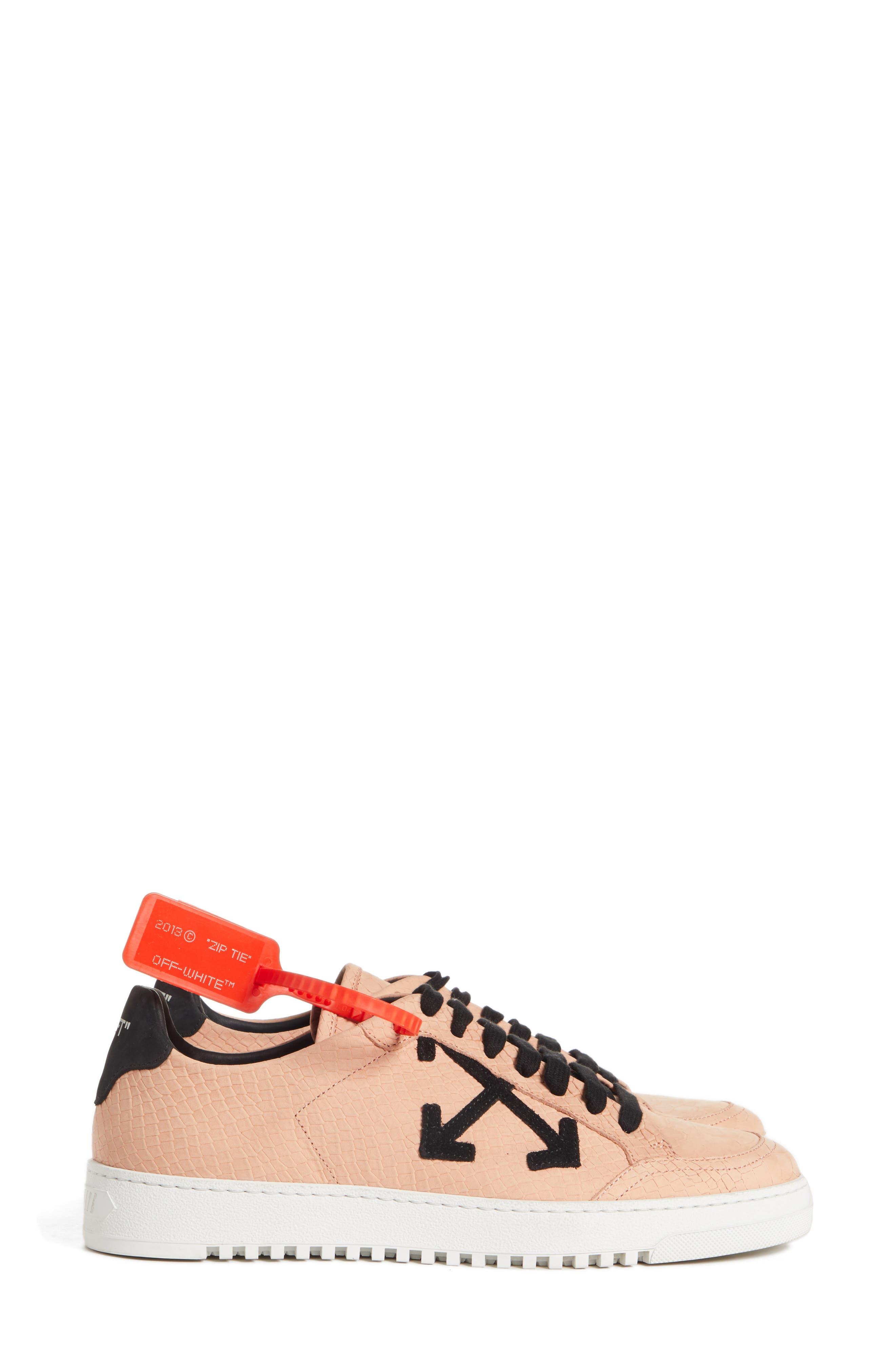 Arrow Sneaker,                             Alternate thumbnail 3, color,                             SALMON BLACK