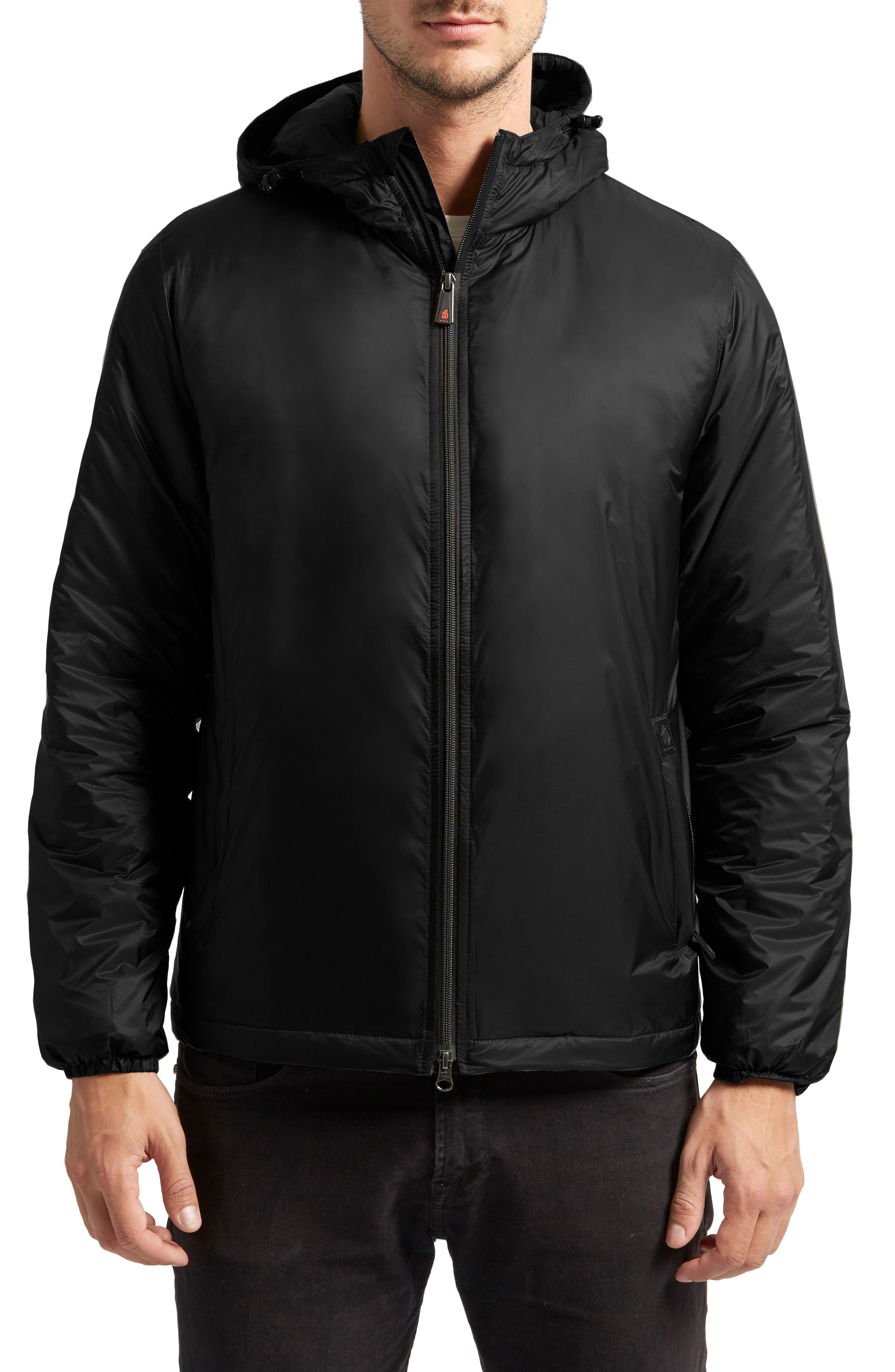Arvada Packable Heat System Hooded Jacket,                         Main,                         color, 001
