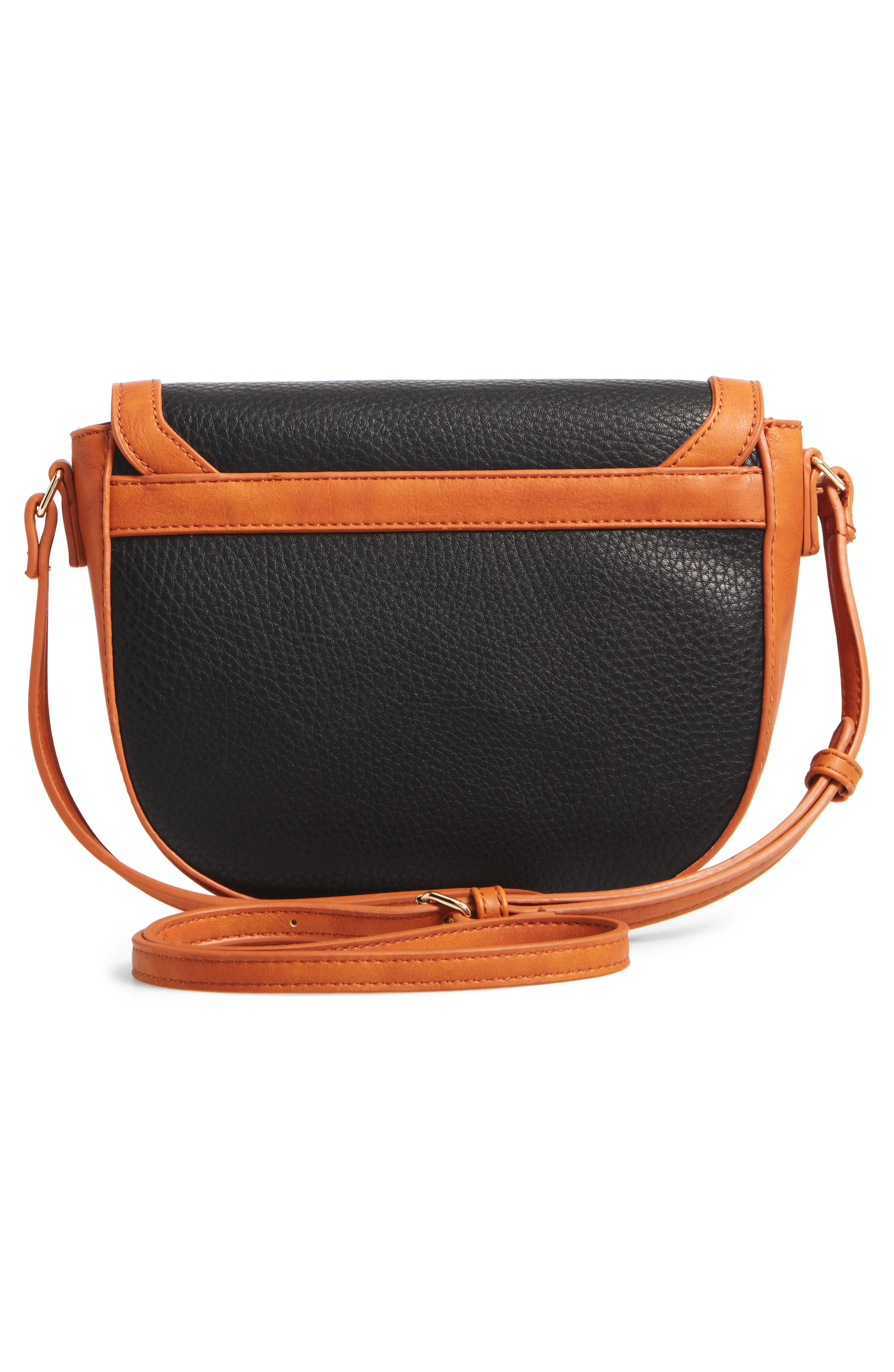 Finnigan Faux Leather Crossbody Bag,                             Alternate thumbnail 3, color,                             001