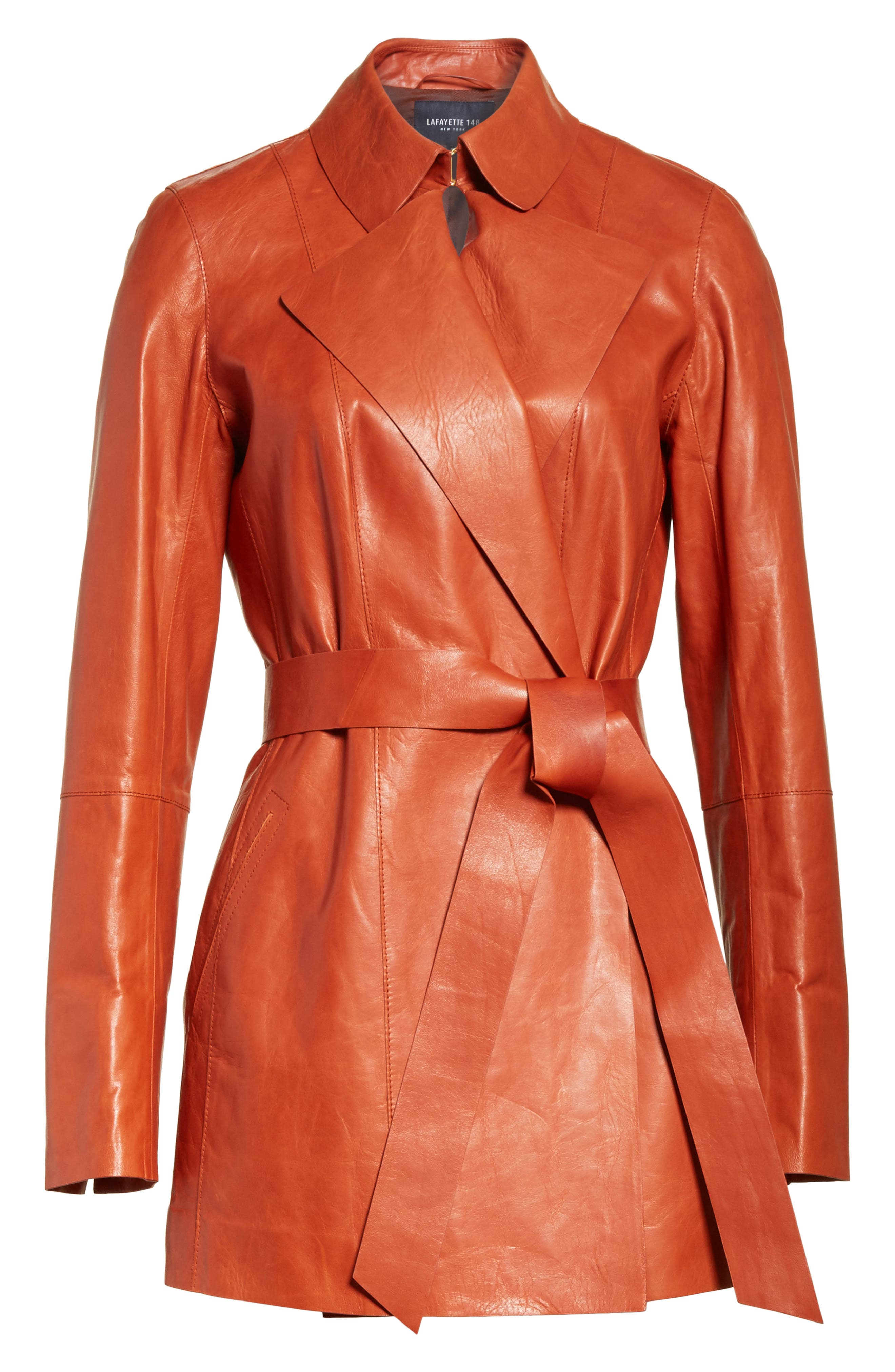 Leather Trench,                             Alternate thumbnail 5, color,                             800