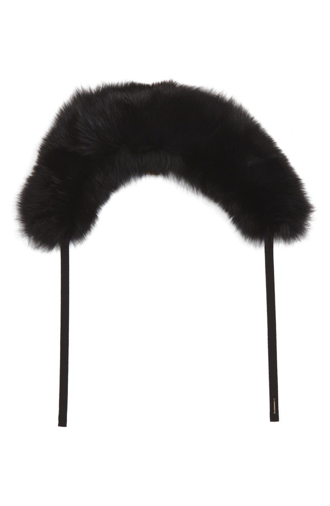 Genuine Fox Fur Collar,                             Main thumbnail 1, color,