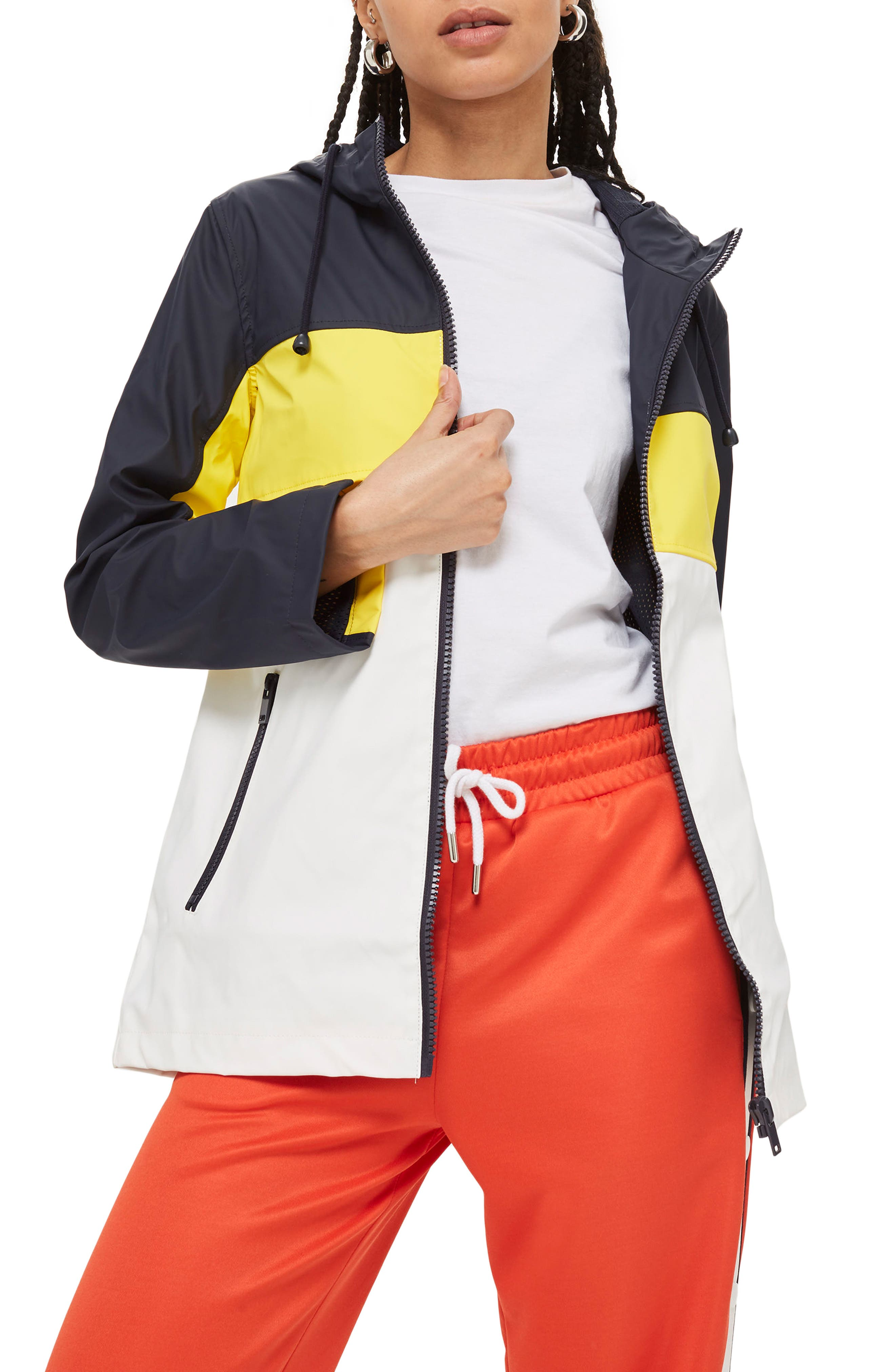 Colorblock Rain Mac Jacket,                         Main,                         color, 411