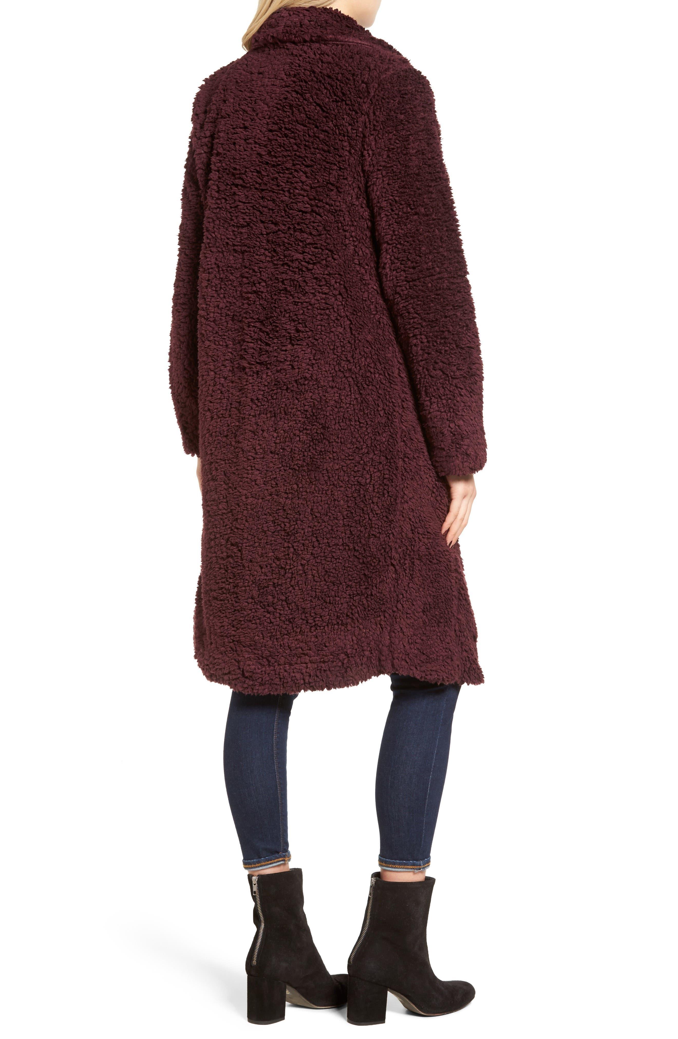 Violet Teddy Bear Coat,                             Alternate thumbnail 7, color,