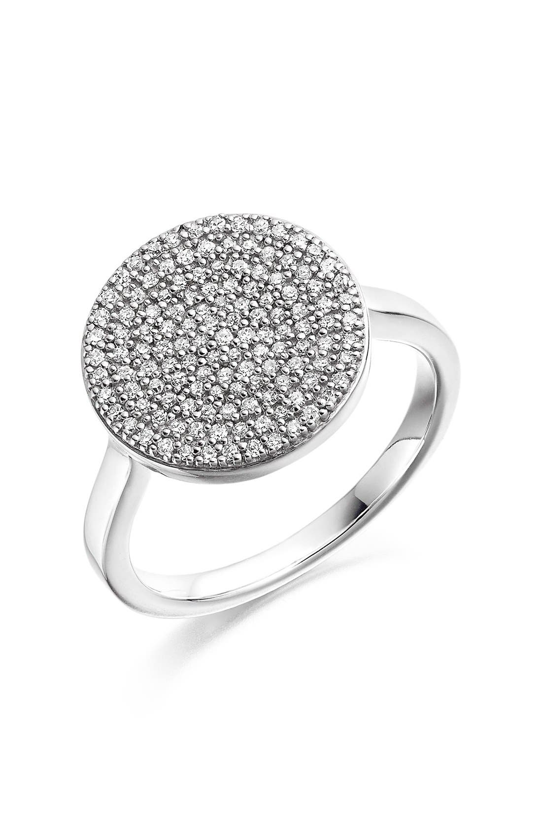 'Ava' Diamond Disc Ring,                         Main,                         color, 040