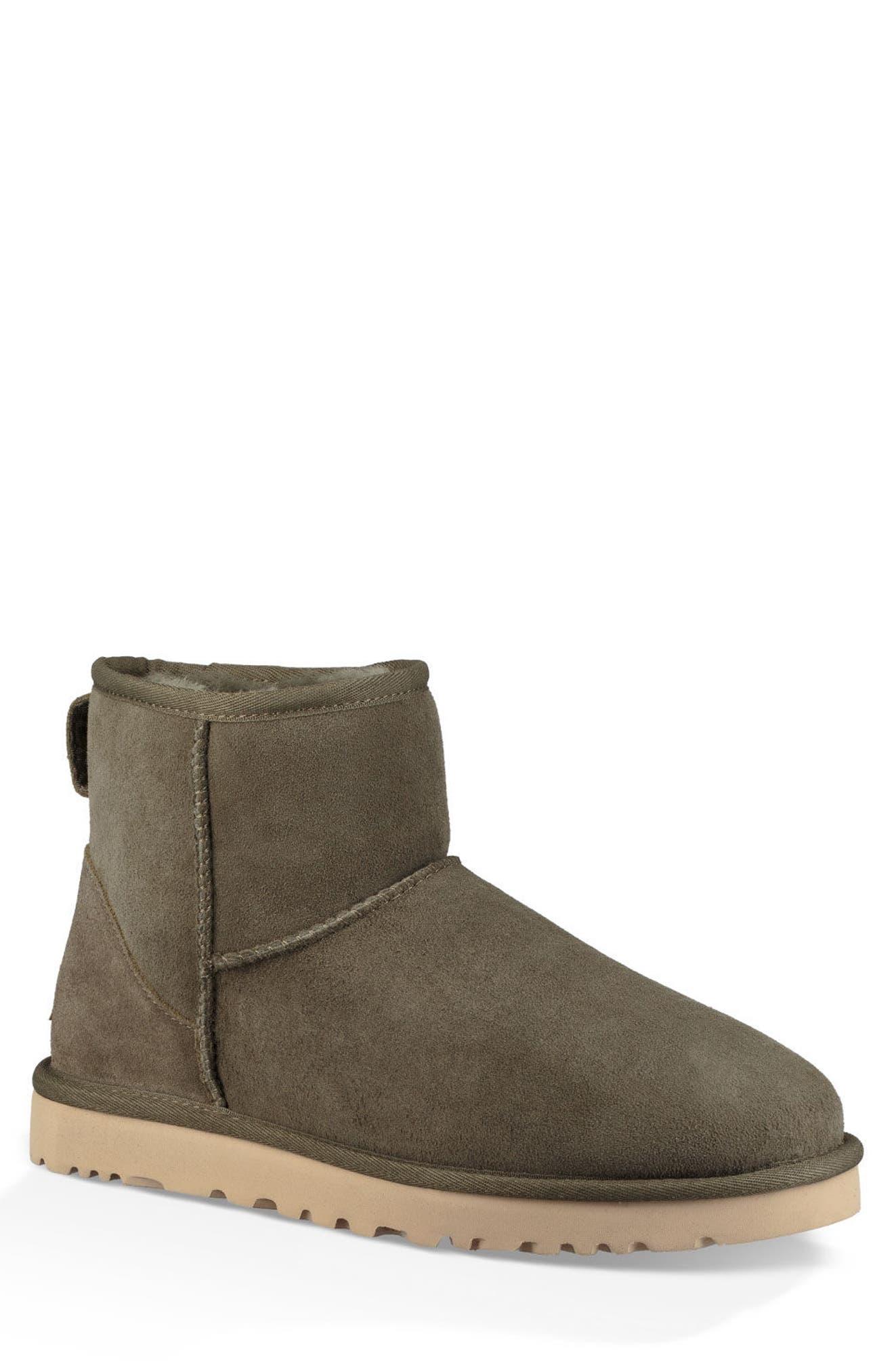 Classic Mini Boot,                         Main,                         color, MOSS GREEN