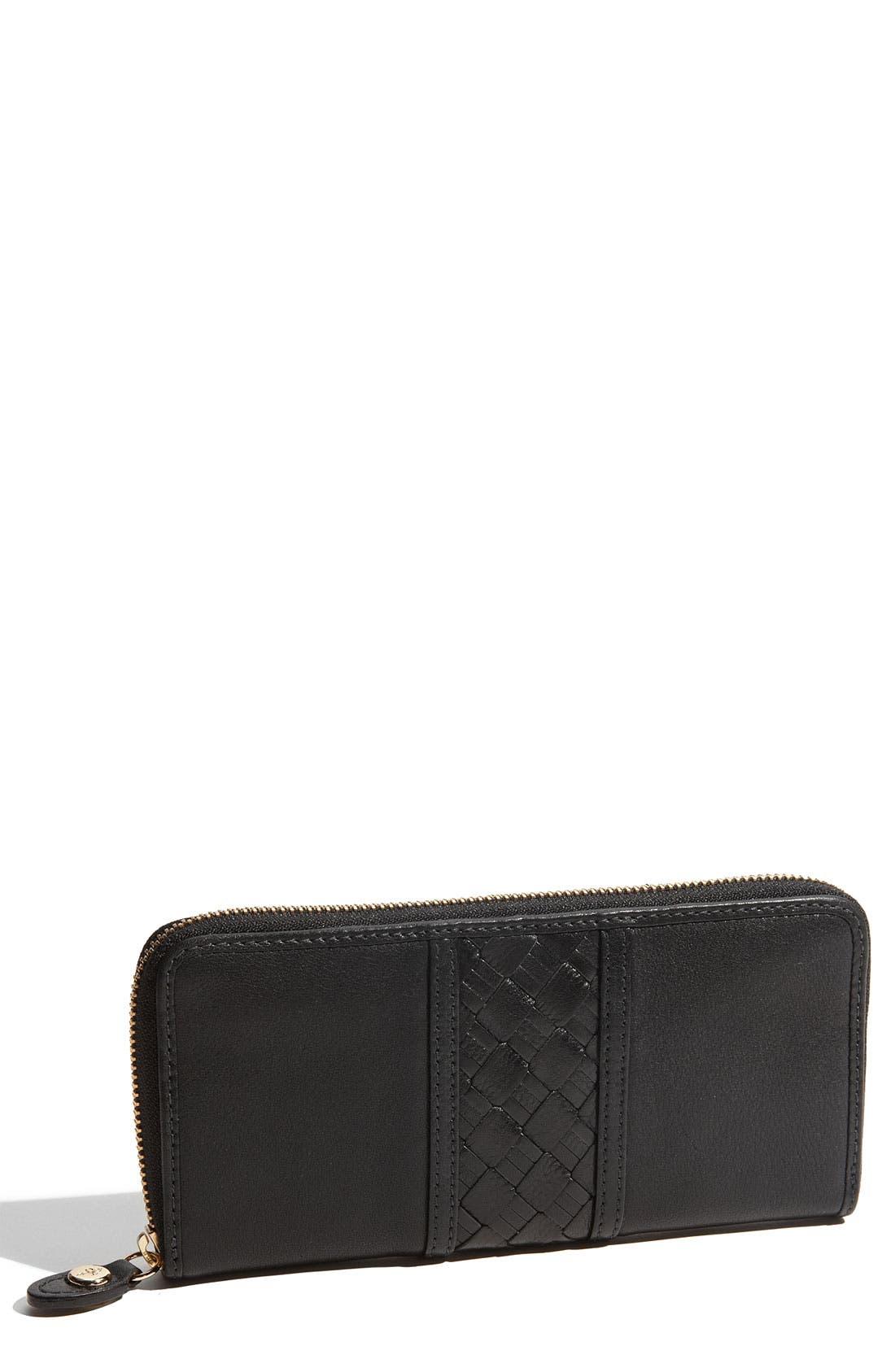 'Weave' Zip Around Travel Wallet, Main, color, 001