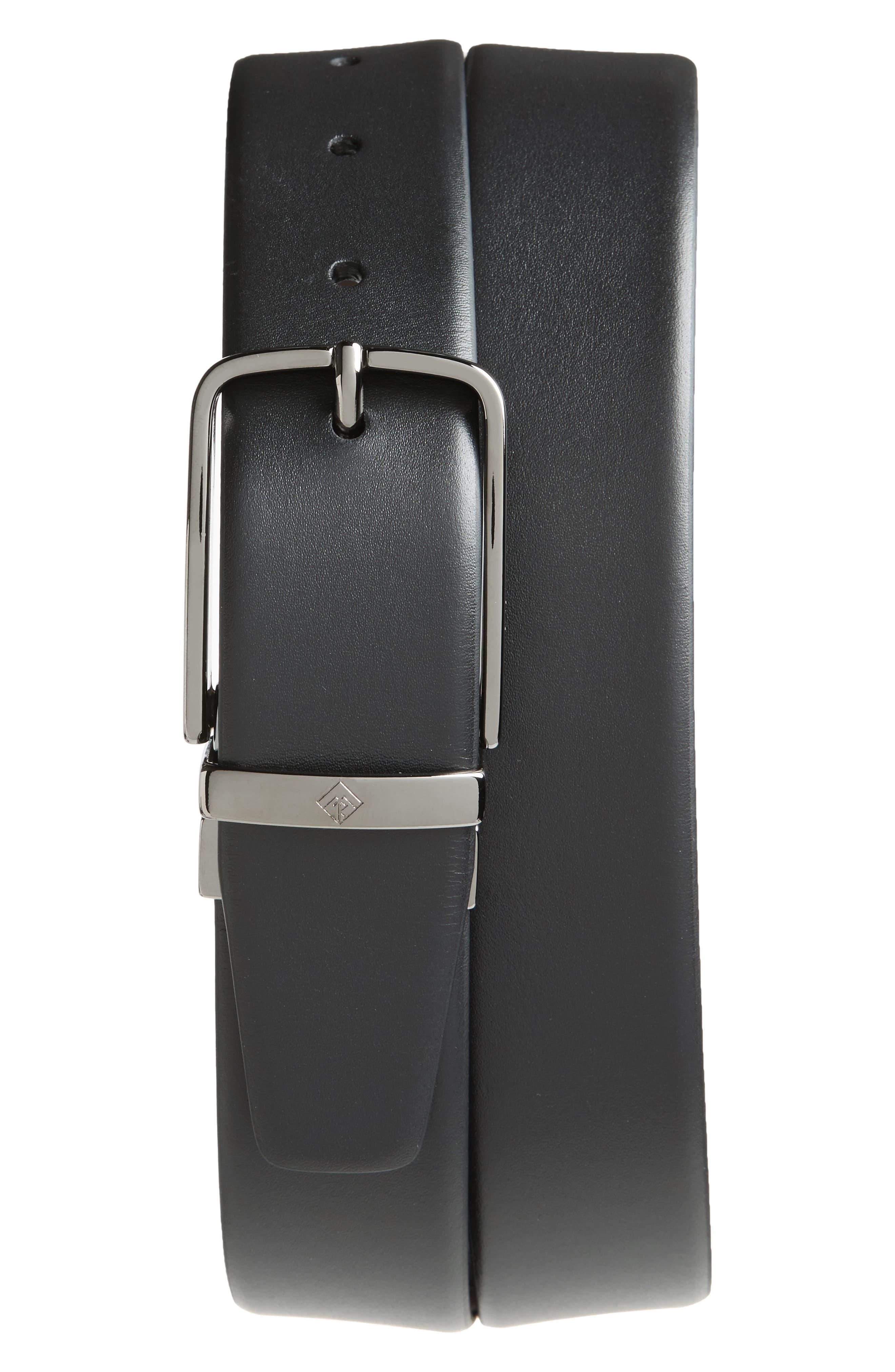 Matteo Reversible Leather Belt,                             Main thumbnail 1, color,                             BLACK/ BROWN