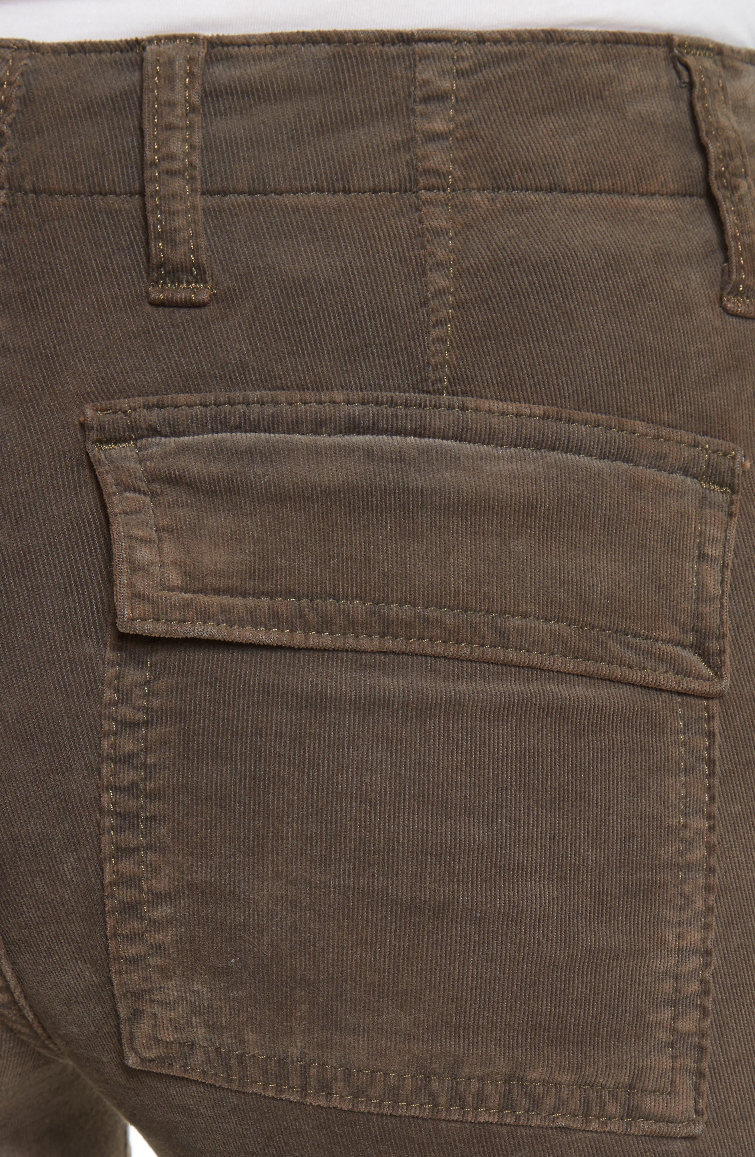 Skinny Corduroy Cargo Pants,                             Alternate thumbnail 10, color,