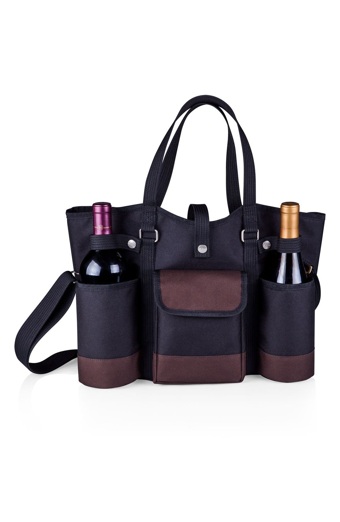 'Wine Country' Picnic Tote,                             Alternate thumbnail 5, color,